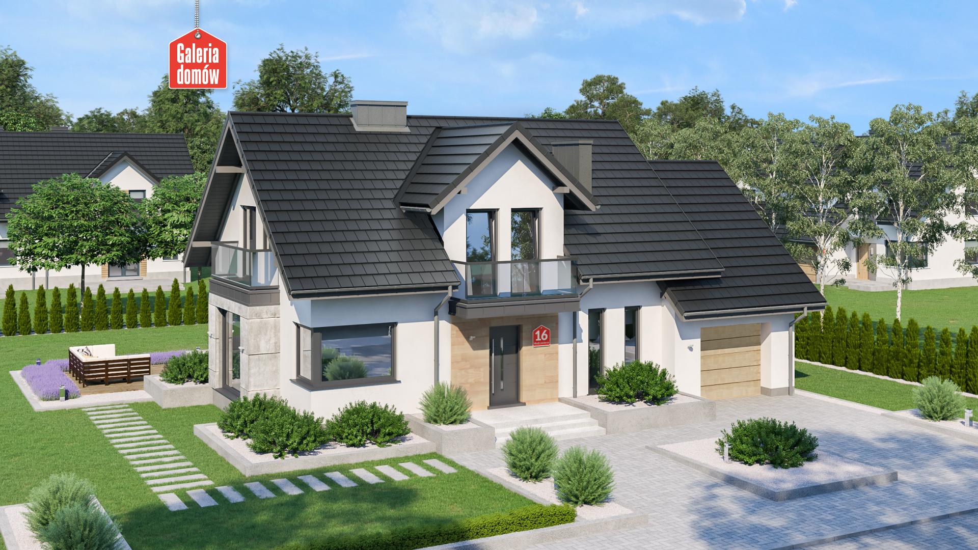 Dom przy Modrzewiowej 16 - zdjęcie projektu i wizualizacja