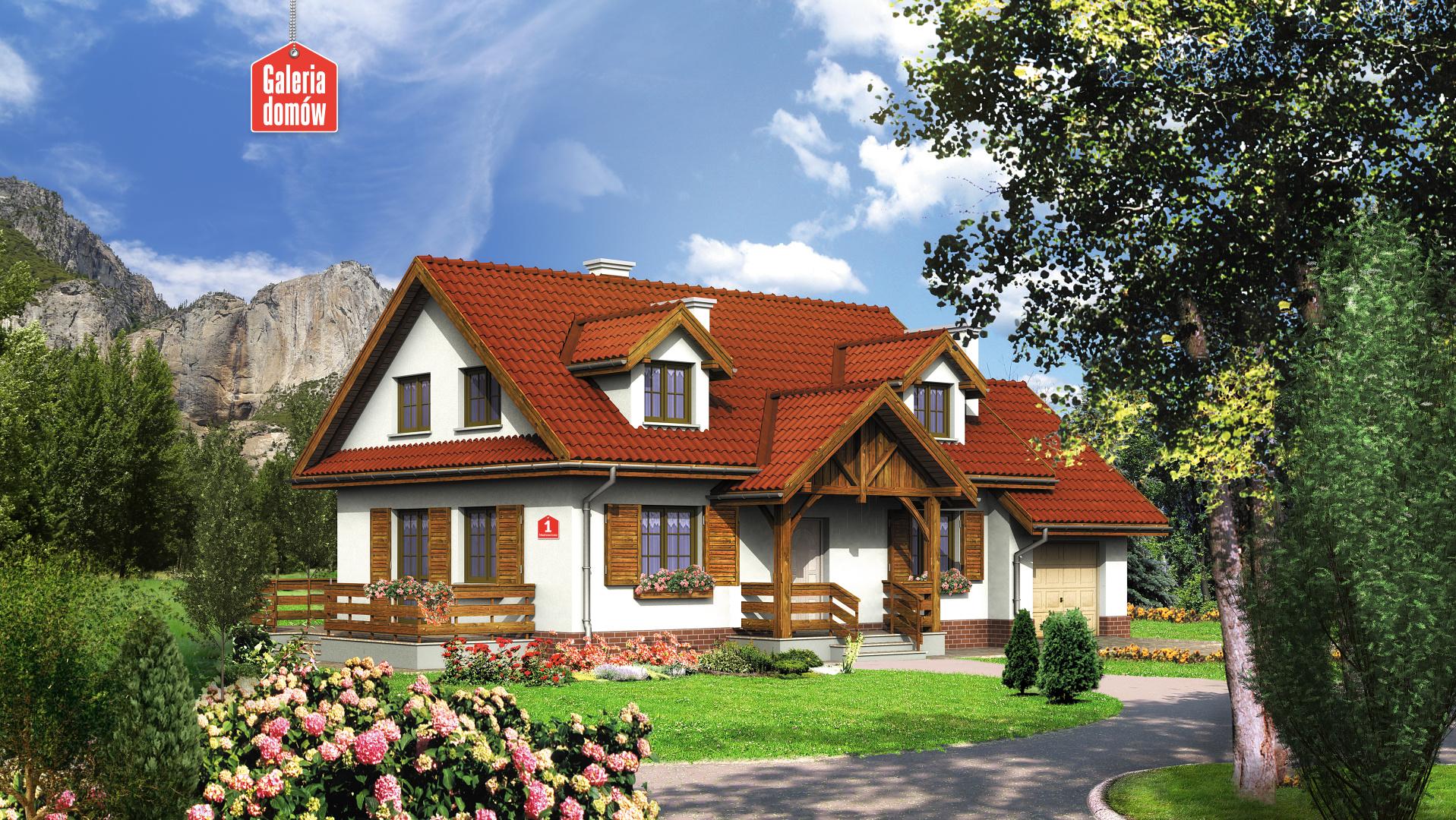 Dom przy Modrzewiowej - zdjęcie projektu i wizualizacja