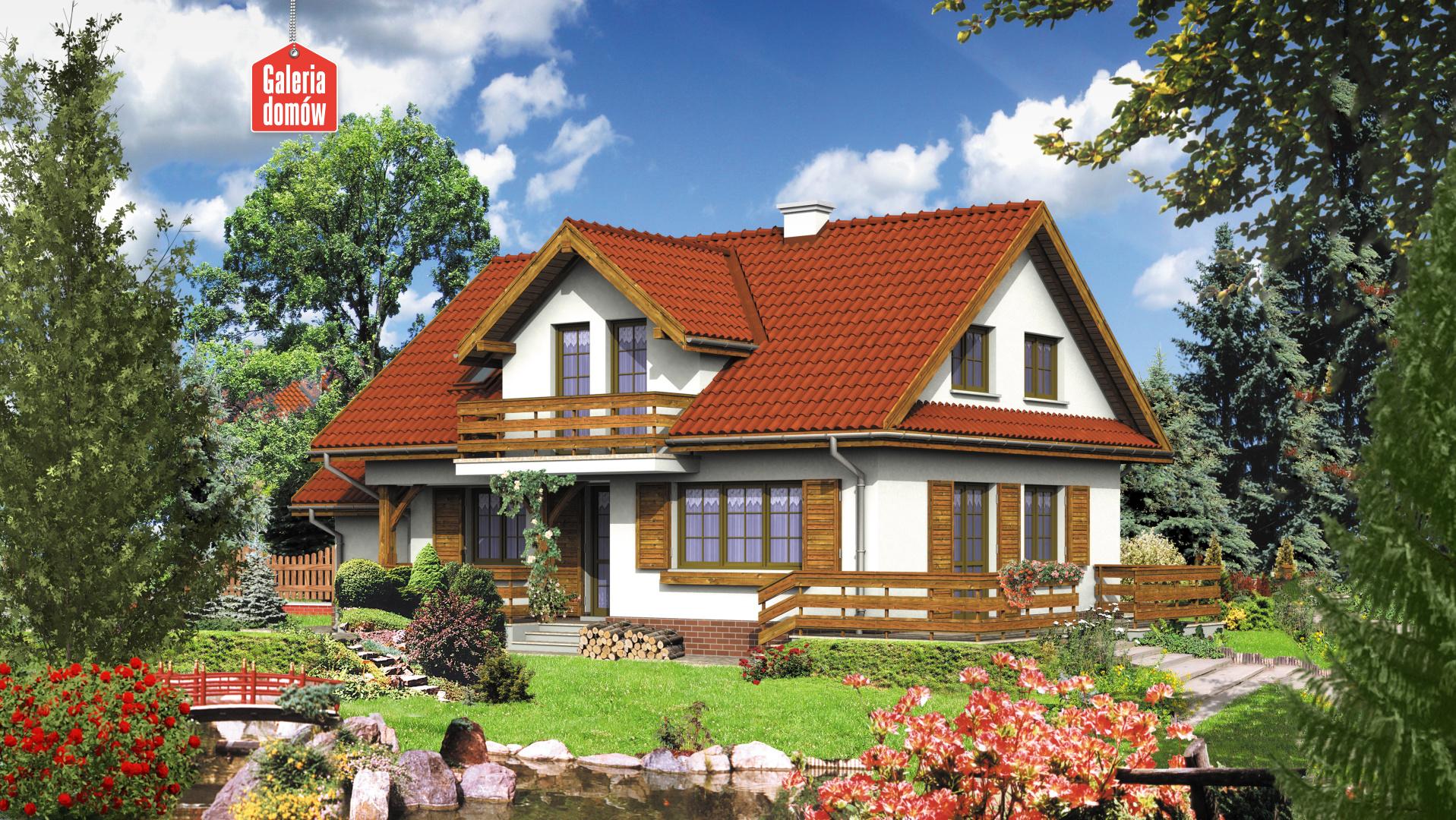 Dom przy Modrzewiowej - widok od ogrodu