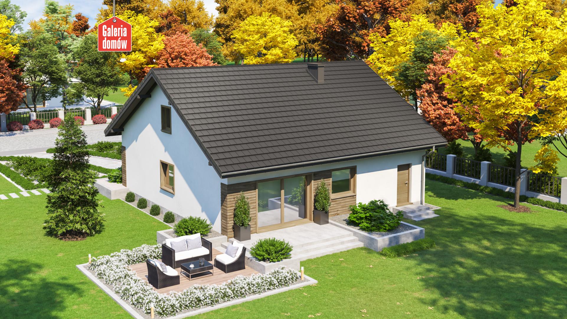 Dom przy Niezapominajek 5 - widok od ogrodu