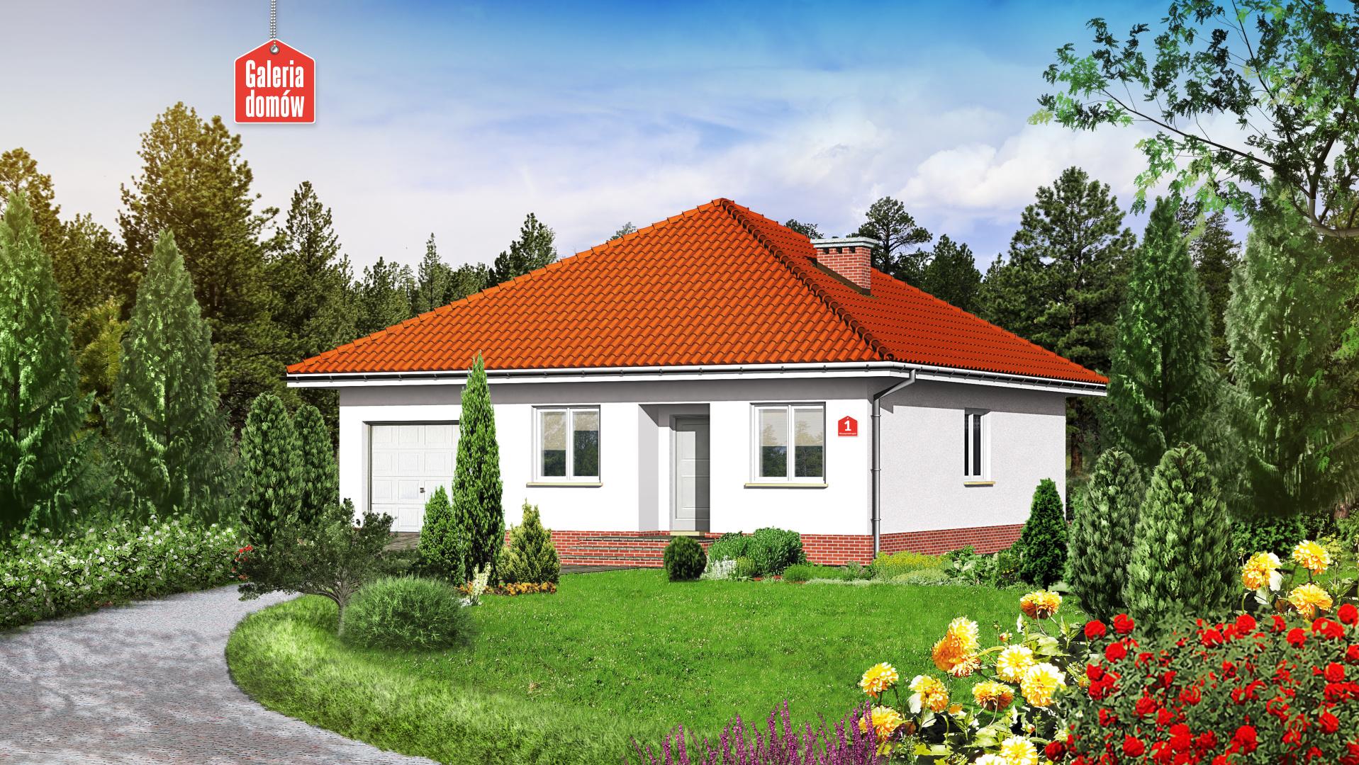 Dom przy Niezapominajek - zdjęcie projektu i wizualizacja