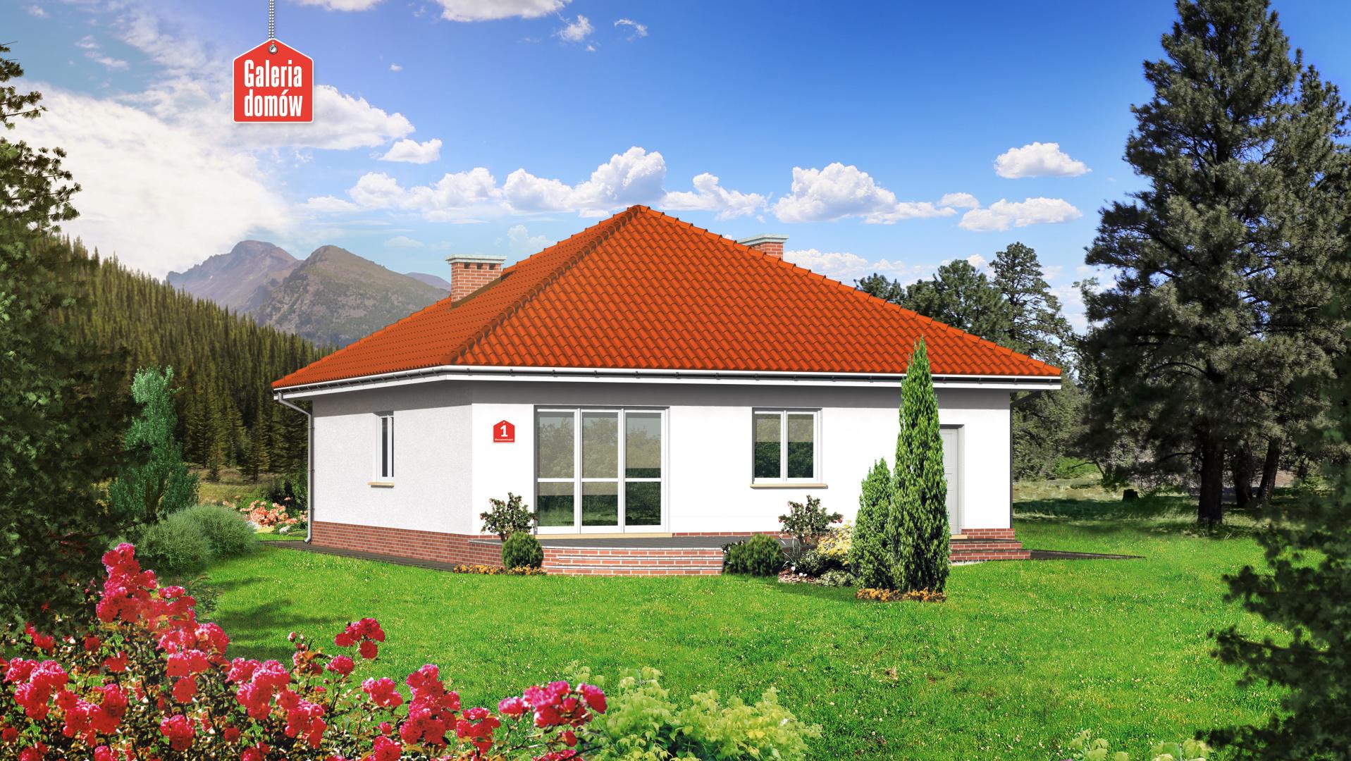 Dom przy Niezapominajek - widok od strony ogrodu