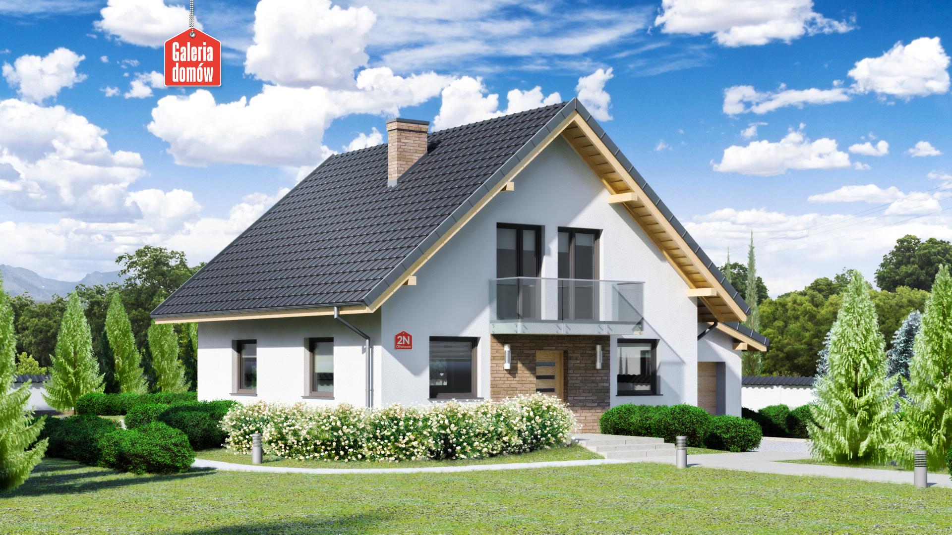 Zdjęcie projektu i wizualizacja: projekt domu Dom przy Oliwkowej 2 N