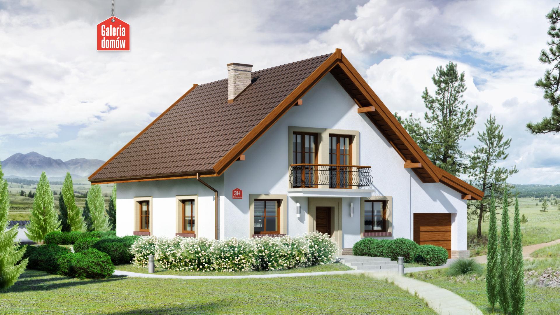 Dom przy Oliwkowej 3 H - zdjęcie projektu i wizualizacja