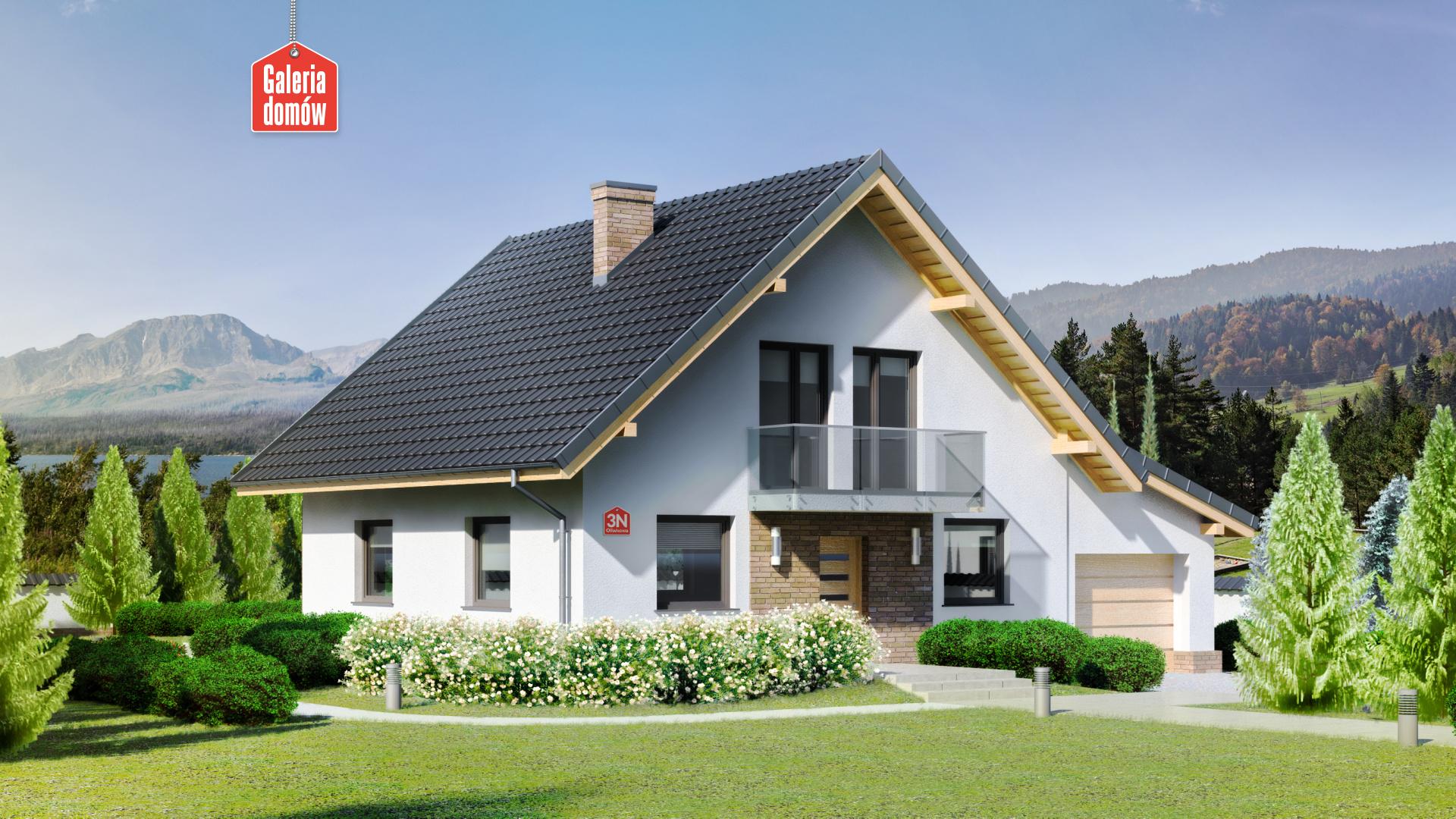 Dom przy Oliwkowej 3 N - zdjęcie projektu i wizualizacja