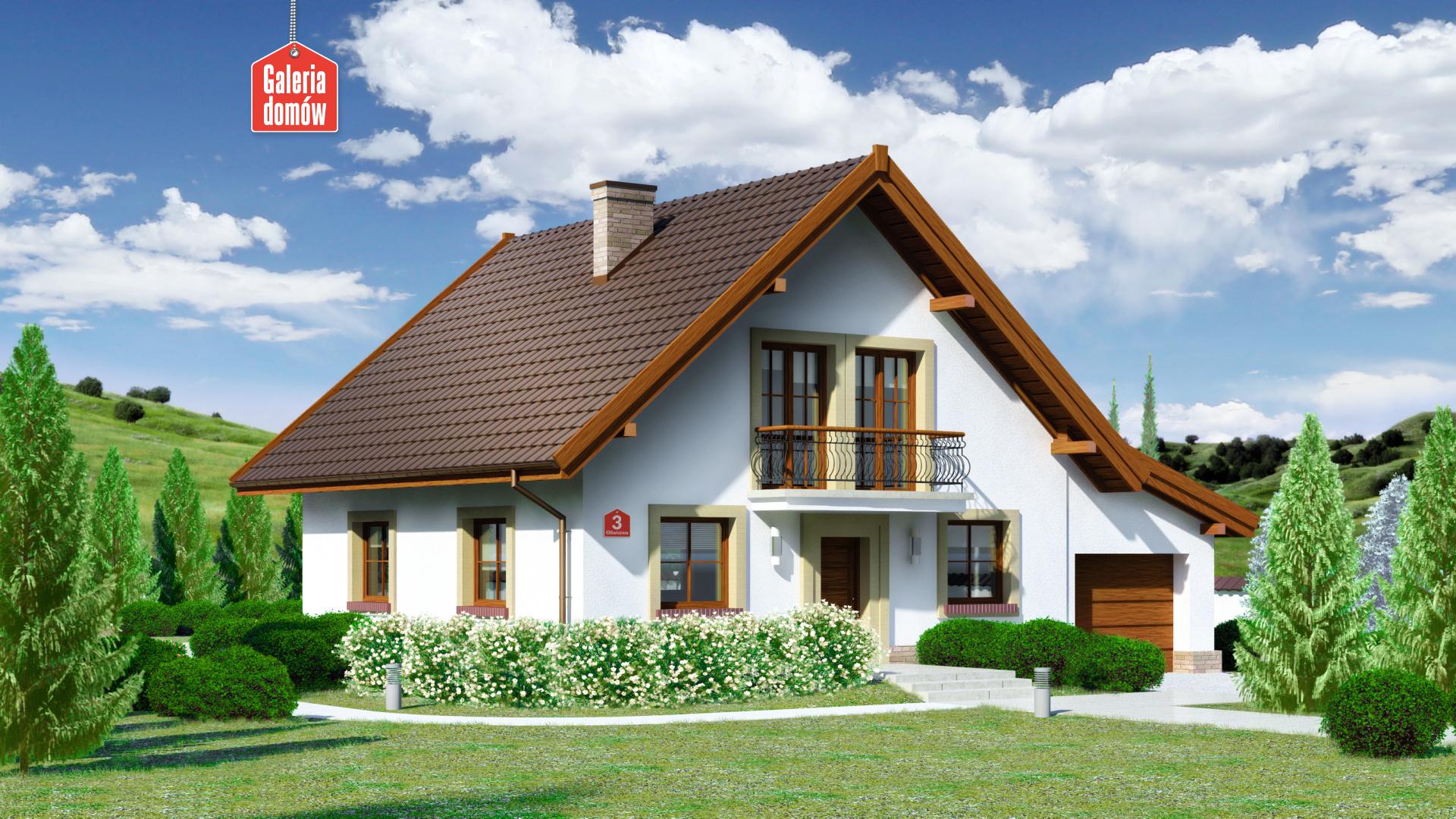 Dom przy Oliwkowej 3 - zdjęcie projektu i wizualizacja