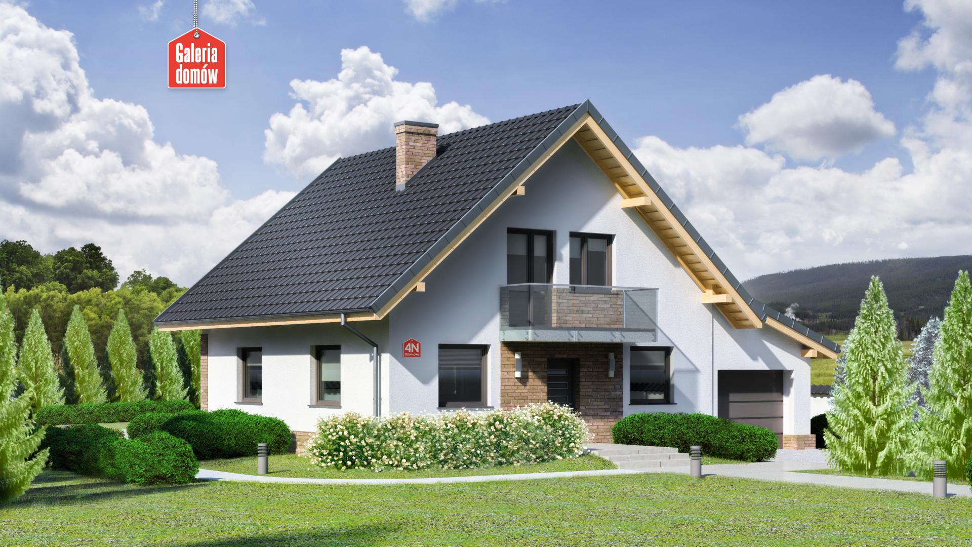 Zdjęcie projektu i wizualizacja: projekt domu Dom przy Oliwkowej 4 N
