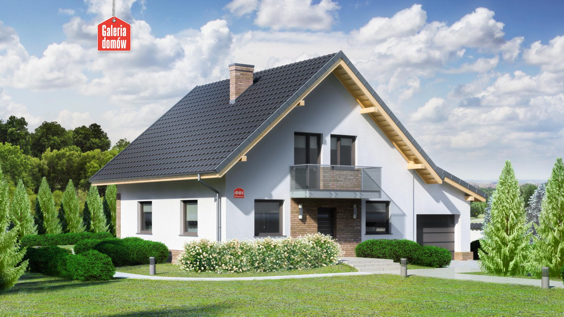 Dom przy Oliwkowej 4 NH - zdjęcie projektu i wizualizacja