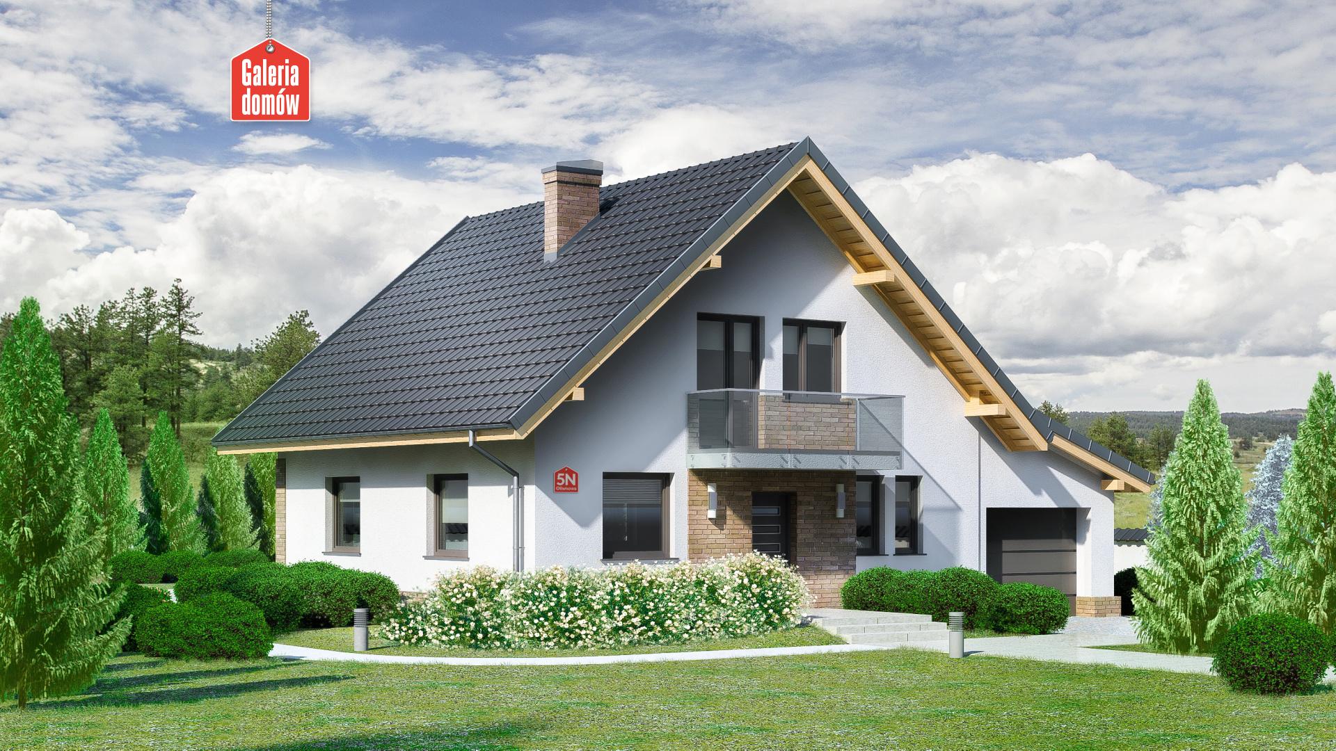 Dom przy Oliwkowej 5 N - zdjęcie projektu i wizualizacja