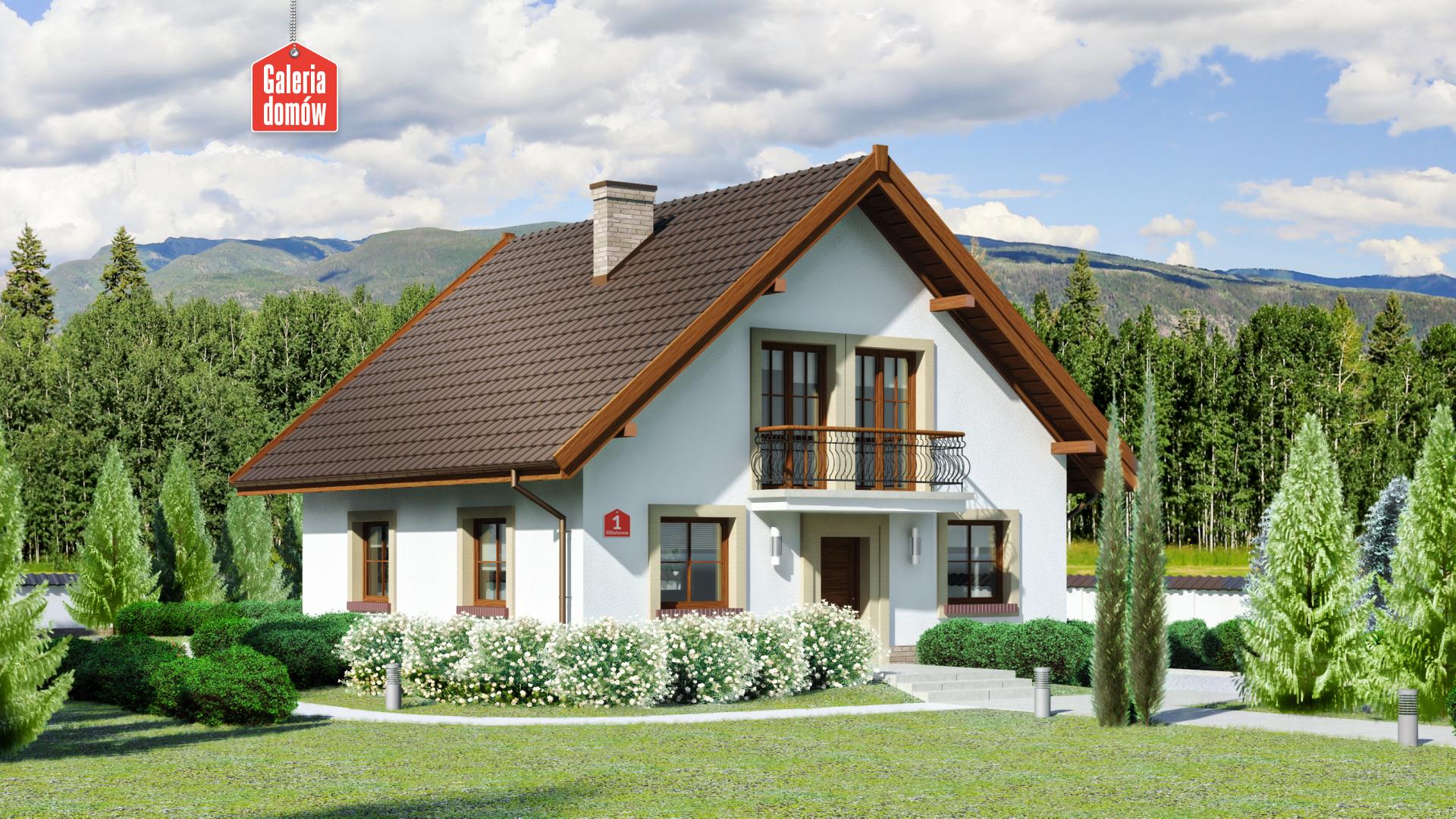 Dom przy Oliwkowej - zdjęcie projektu i wizualizacja