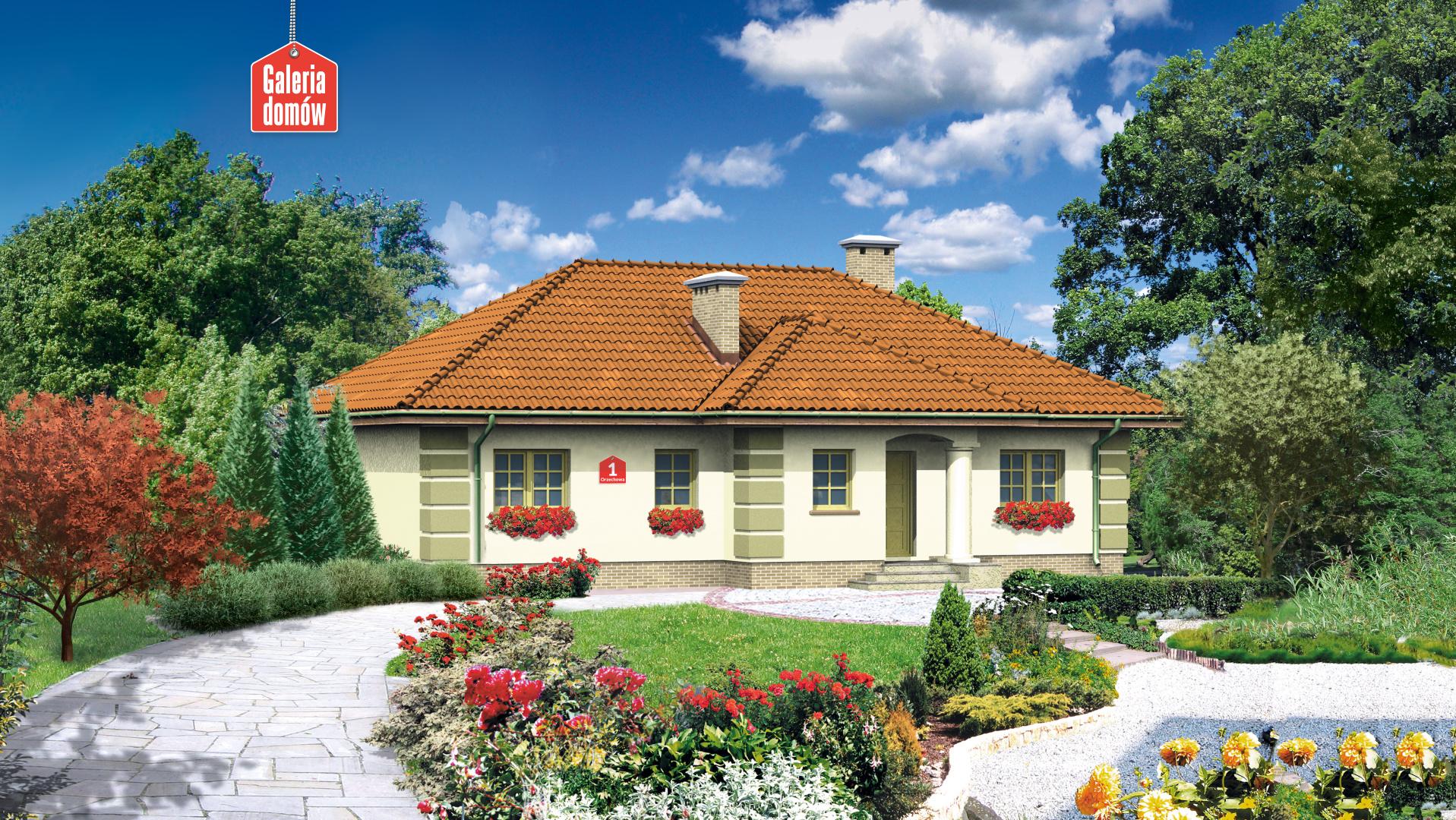 Dom przy Orzechowej - widok od strony ogrodu