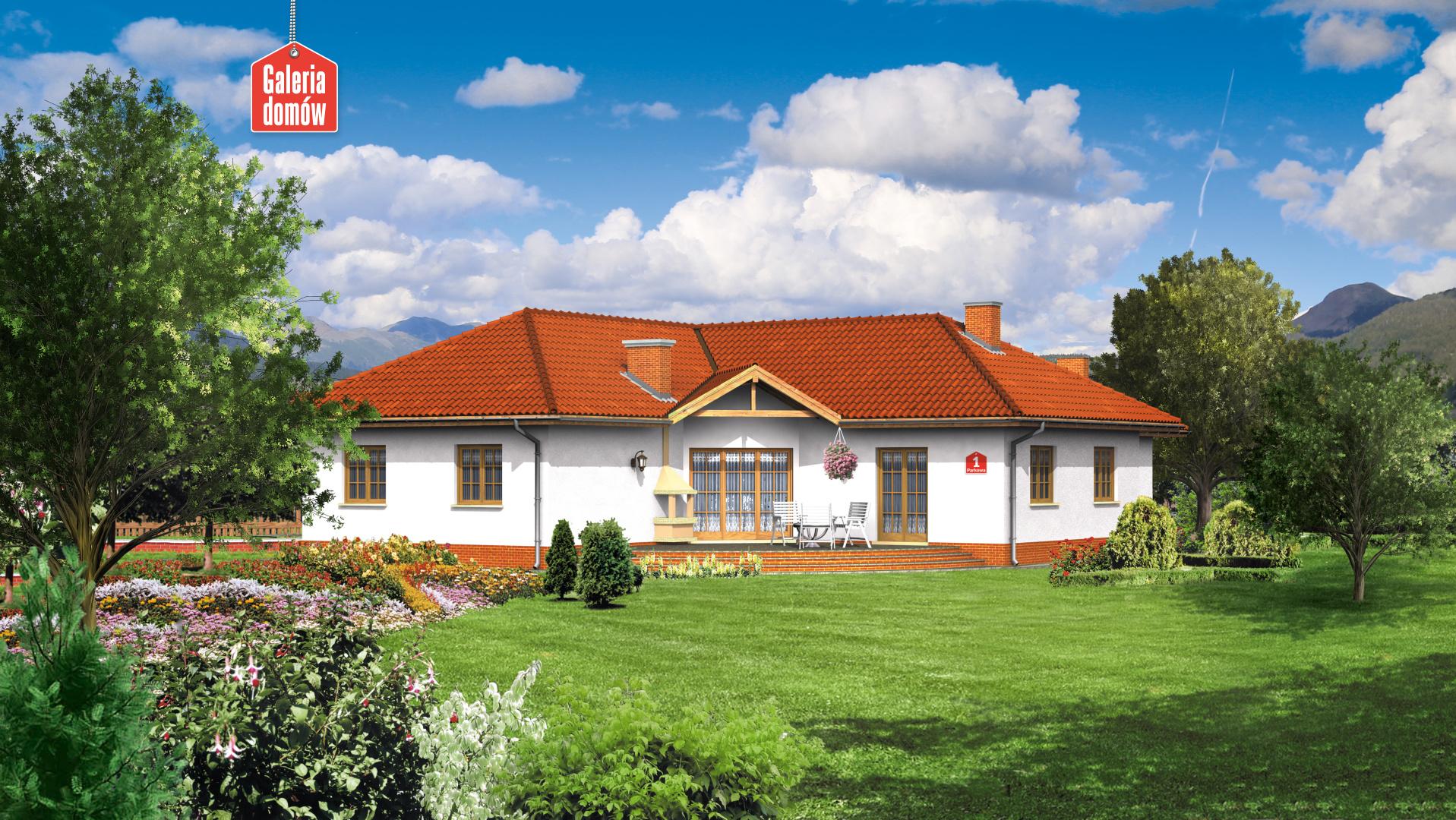 Dom przy Parkowej - widok od ogrodu