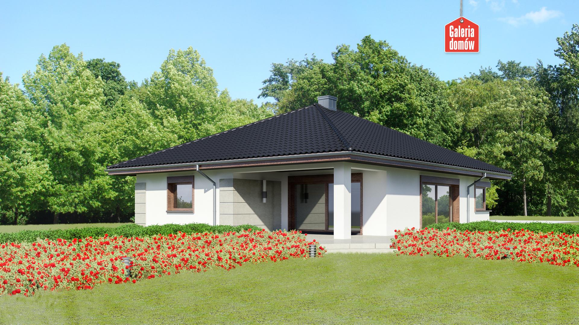 Dom przy Pastelowej 10 - widok od ogrodu