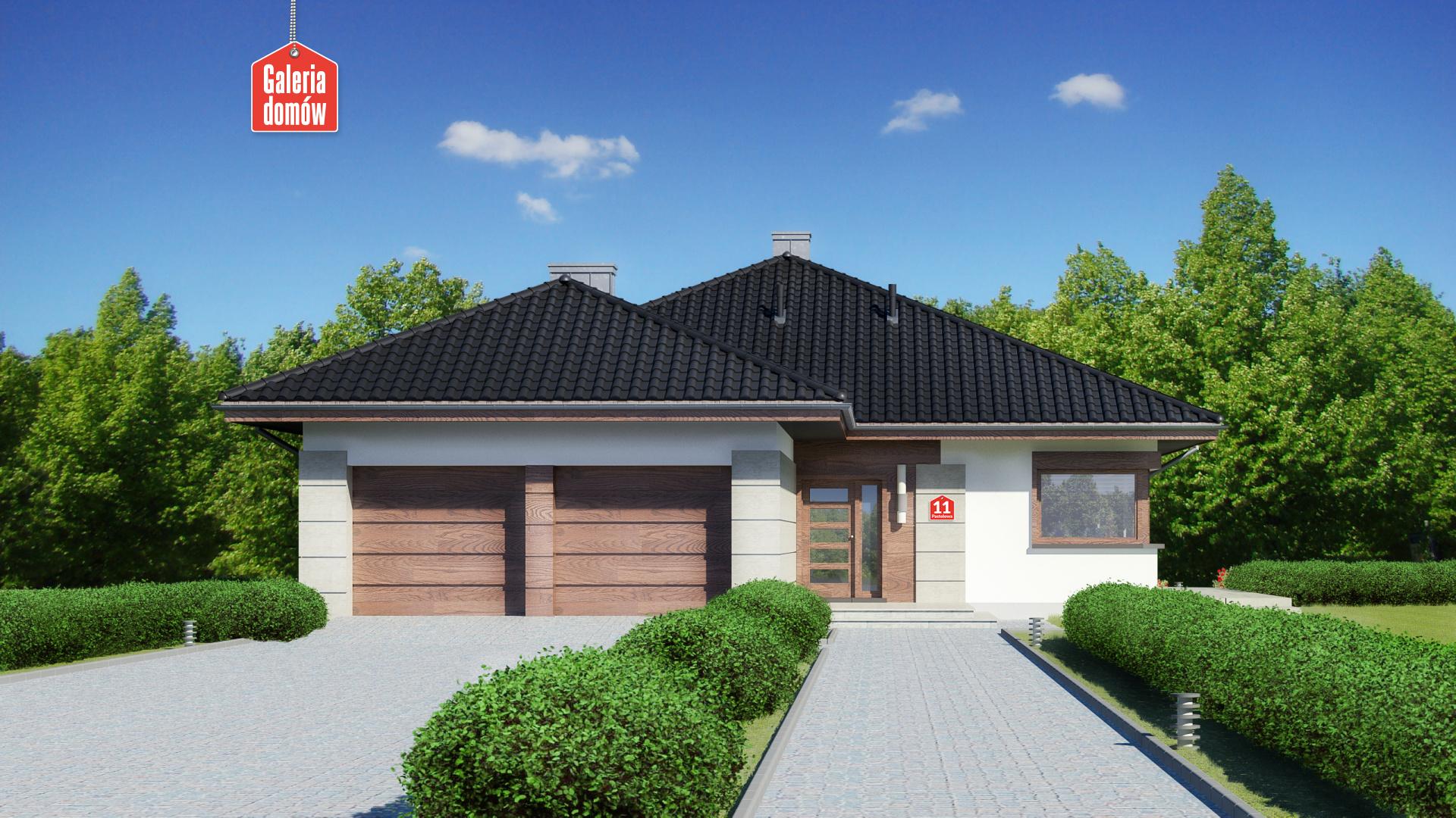 Zdjęcie projektu i wizualizacja: projekt domu Dom przy Pastelowej 11