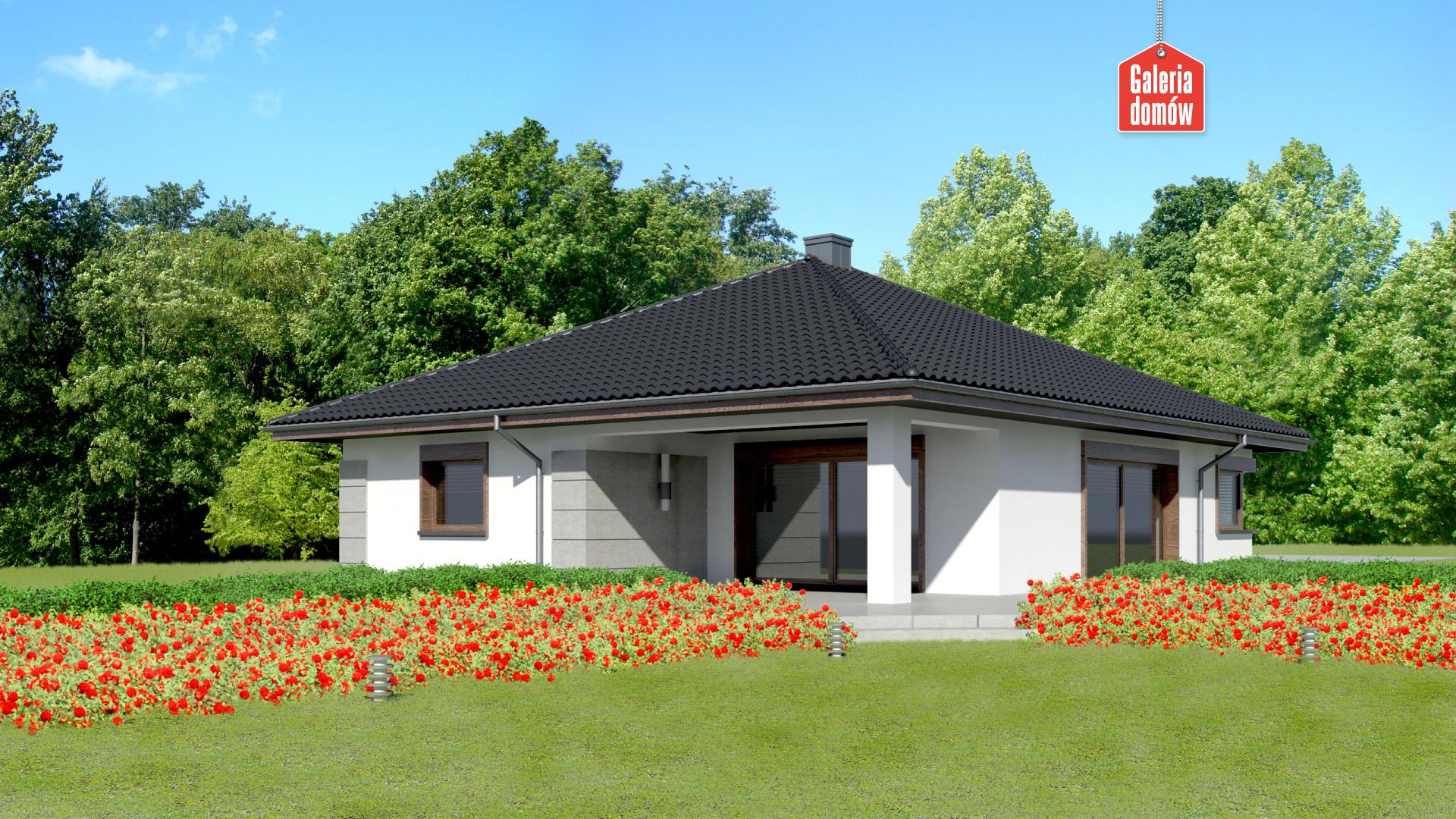 Dom przy Pastelowej 11 - widok od ogrodu