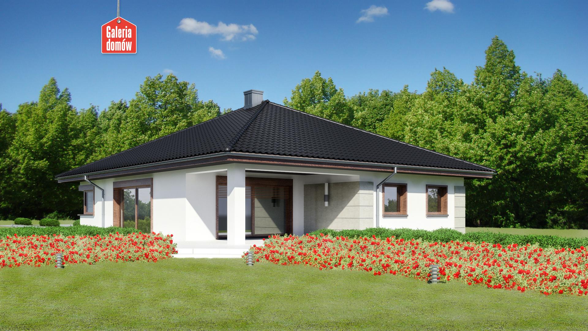 Dom przy Pastelowej 12 - widok od strony ogrodu