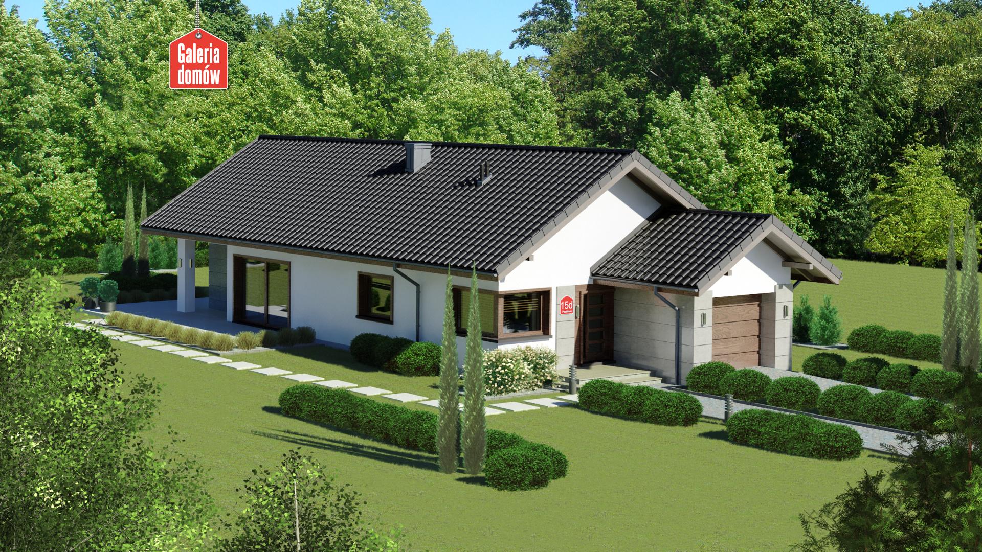 Zdjęcie projektu i wizualizacja: projekt domu Dom przy Pastelowej 15 D bis