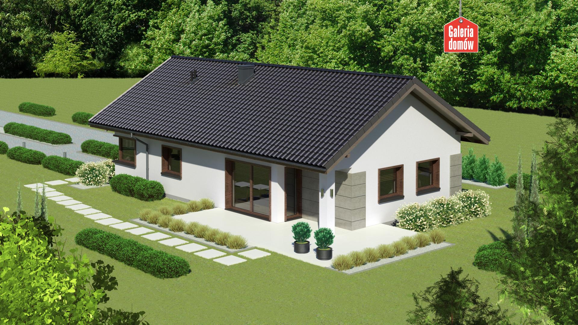 Dom przy Pastelowej 15 D bis - widok od ogrodu