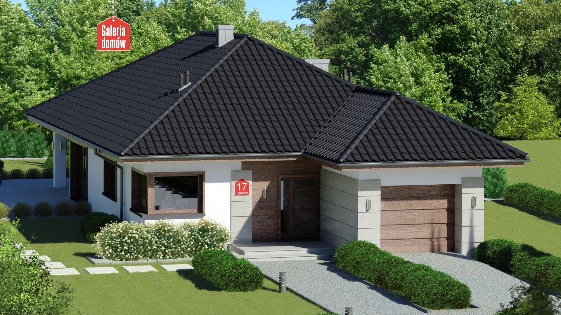 Dom przy Pastelowej 17 bis - zdjęcie projektu i wizualizacja
