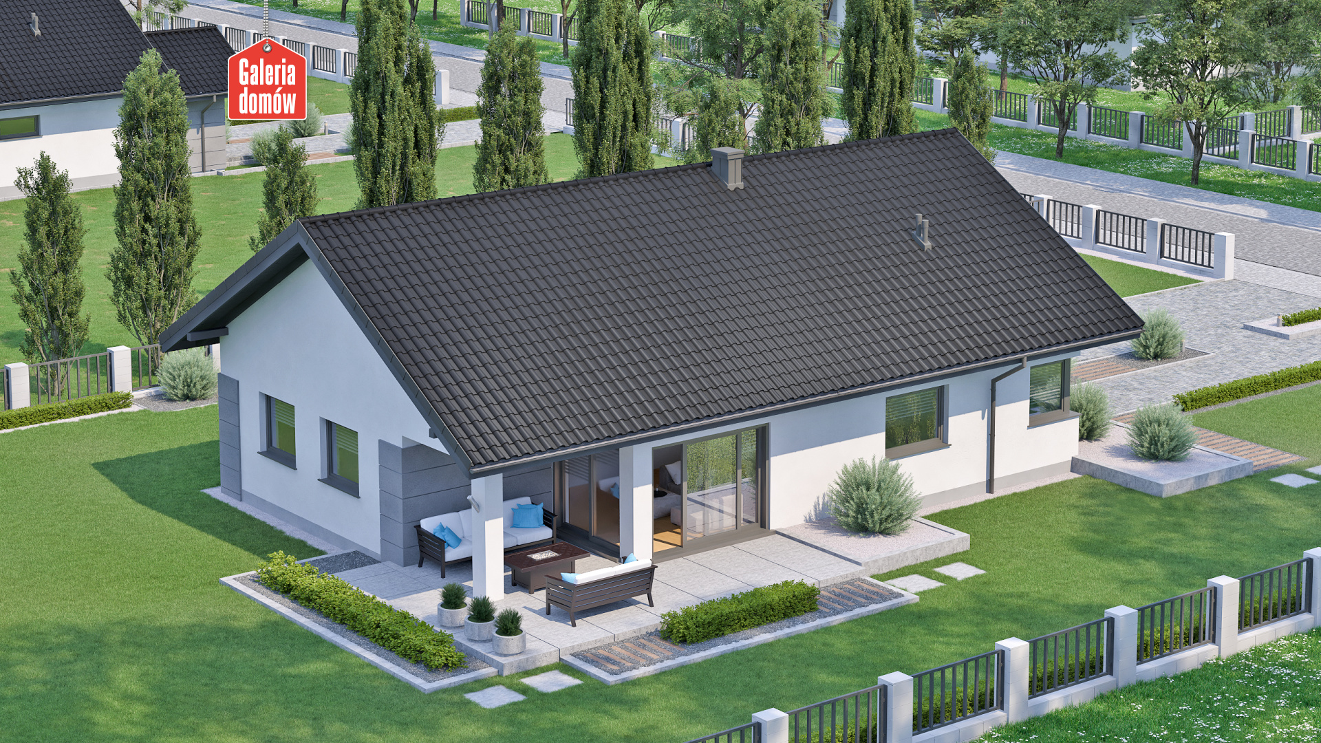 Dom przy Pastelowej 17 D bis - zdjęcie projektu i wizualizacja