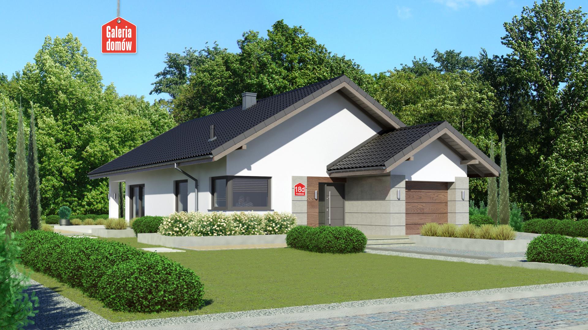 Zdjęcie projektu i wizualizacja: projekt domu Dom przy Pastelowej 18 D bis