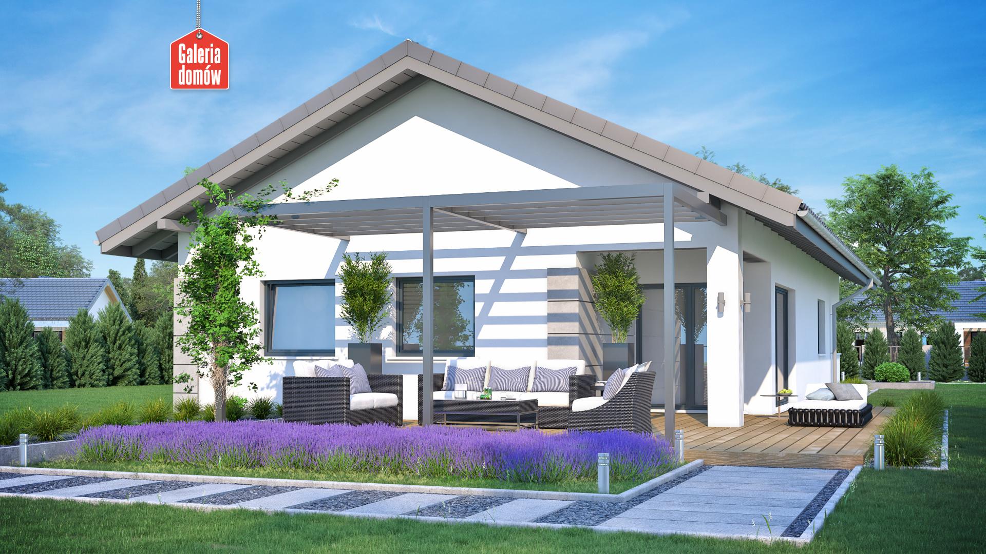 Dom przy Pastelowej 18 D - widok od ogrodu