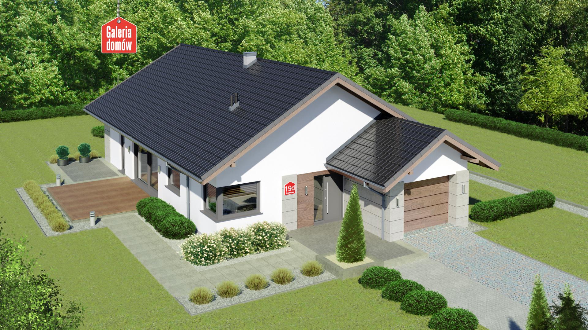 Zdjęcie projektu i wizualizacja: projekt domu Dom przy Pastelowej 19 D bis