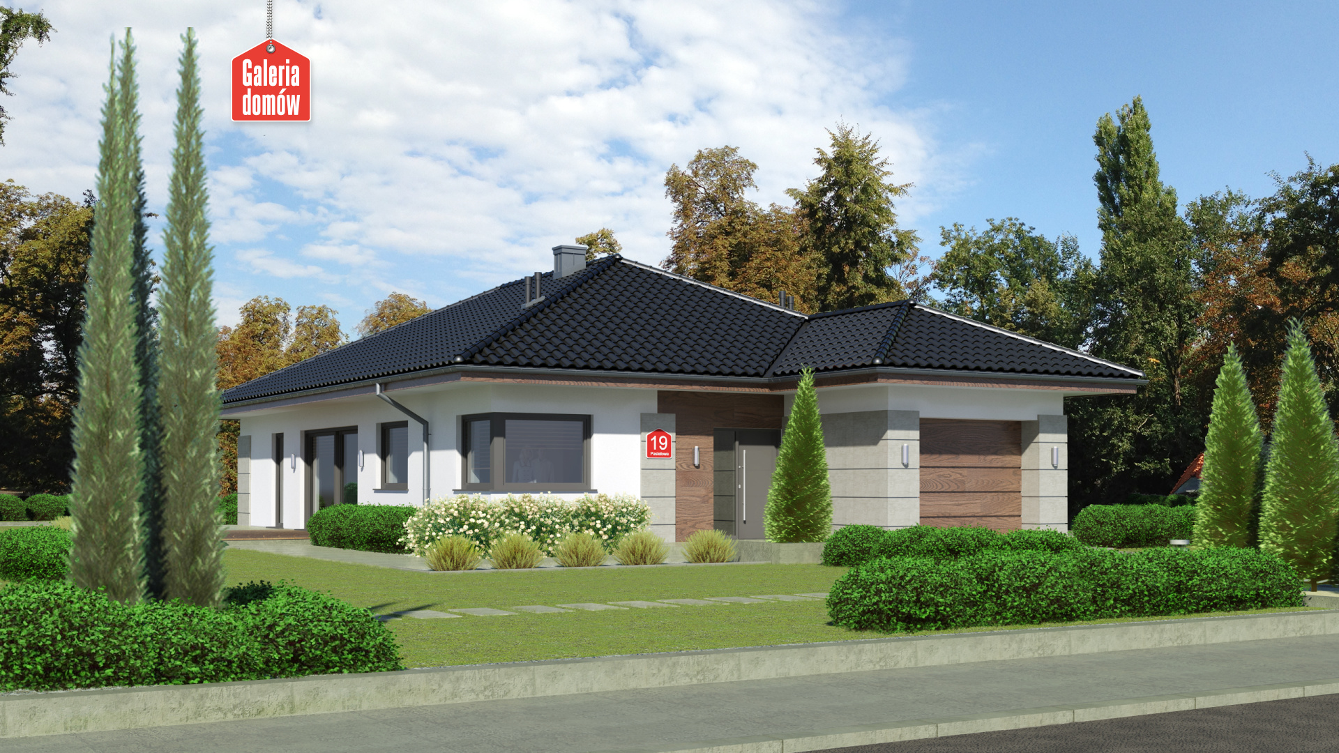 Dom przy Pastelowej 19 - zdjęcie projektu i wizualizacja