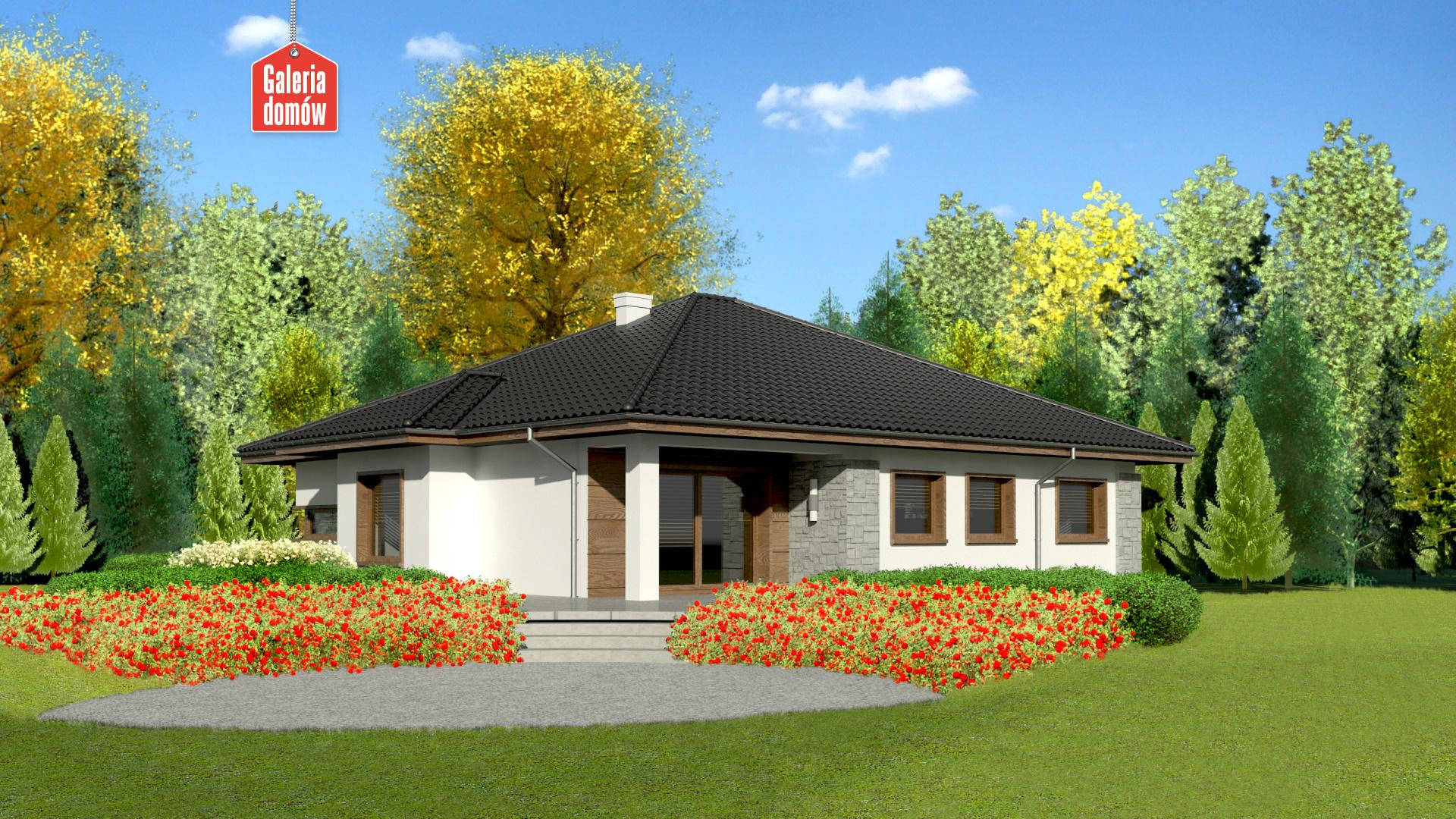 Dom przy Pastelowej 2 bis - widok od ogrodu