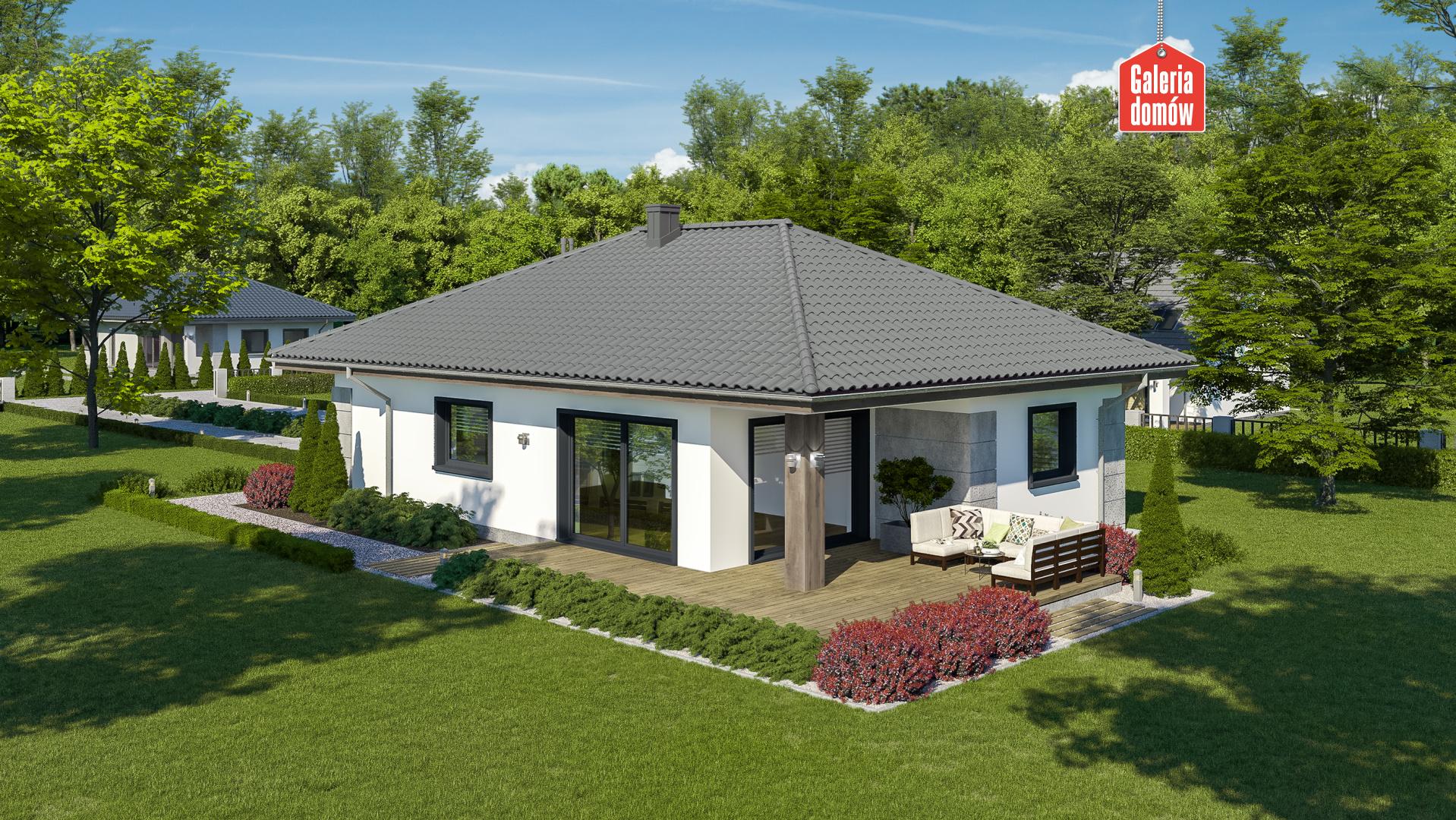 Dom przy Pastelowej 27 - widok od ogrodu