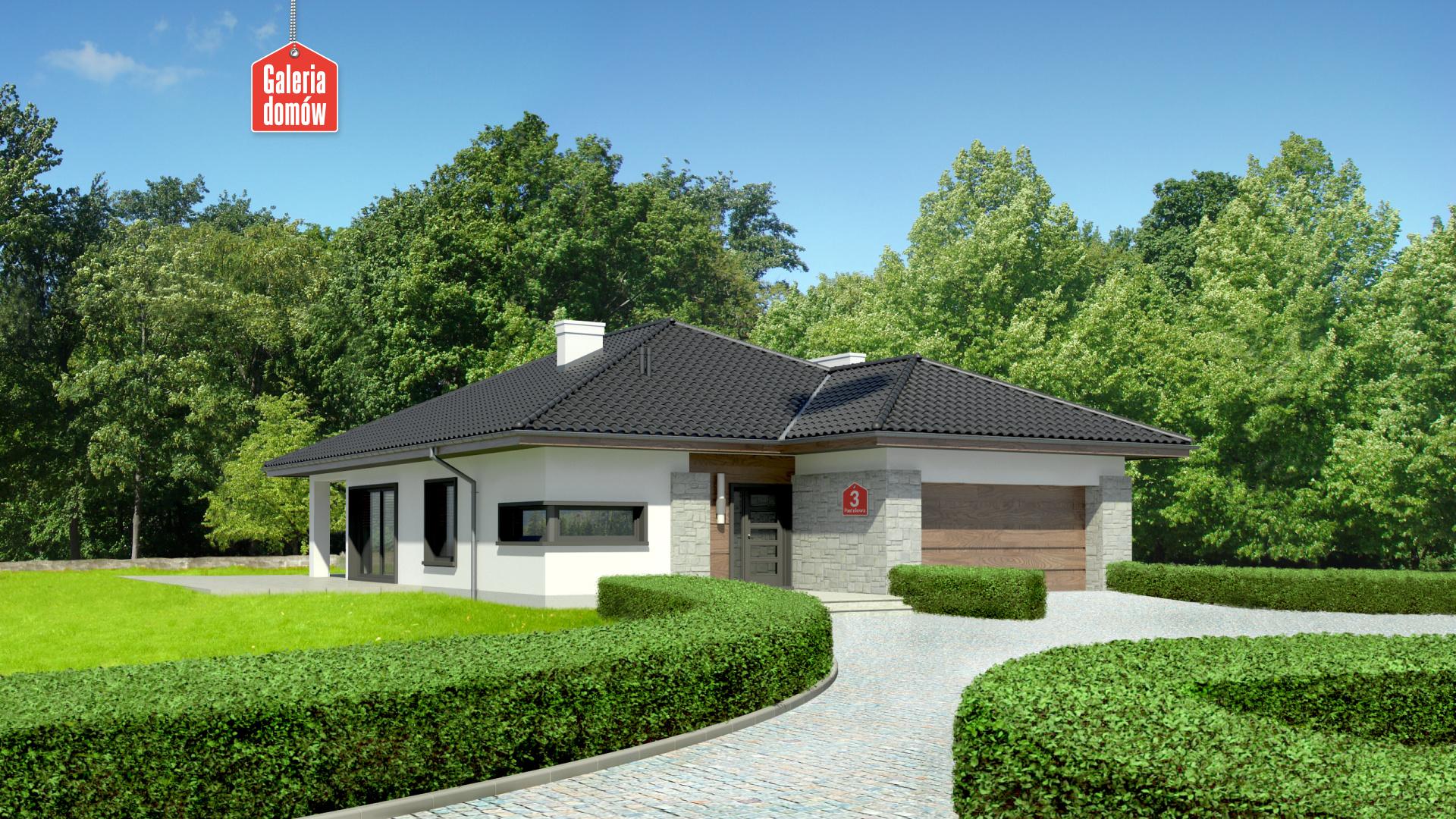 Zdjęcie projektu i wizualizacja: projekt domu Dom przy Pastelowej 3