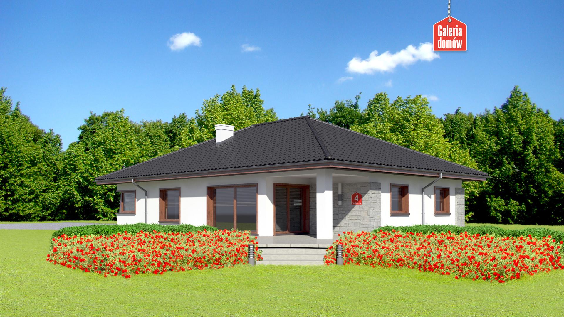 Dom przy Pastelowej 4 - widok od ogrodu