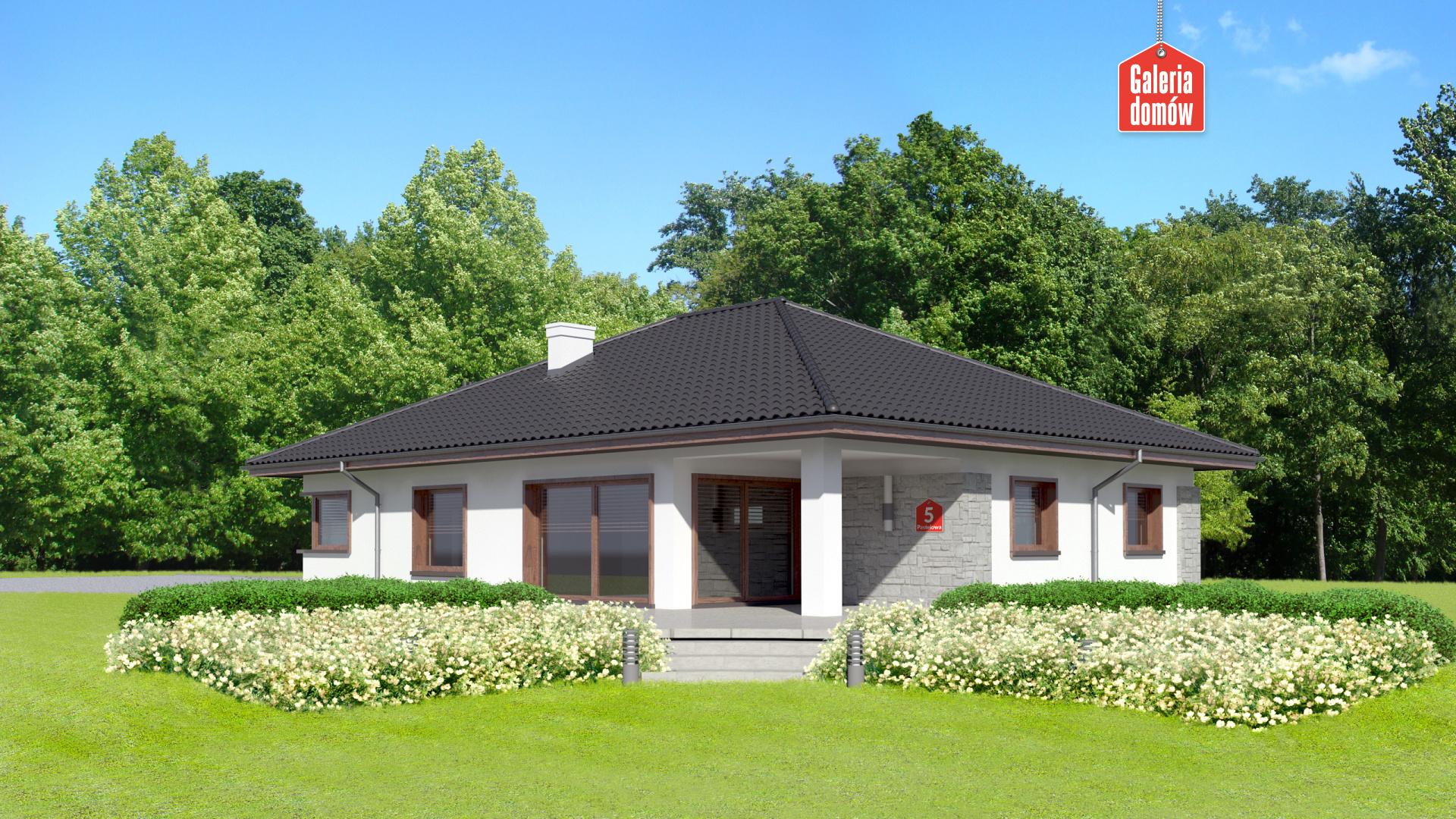 Dom przy Pastelowej 5 - widok od ogrodu