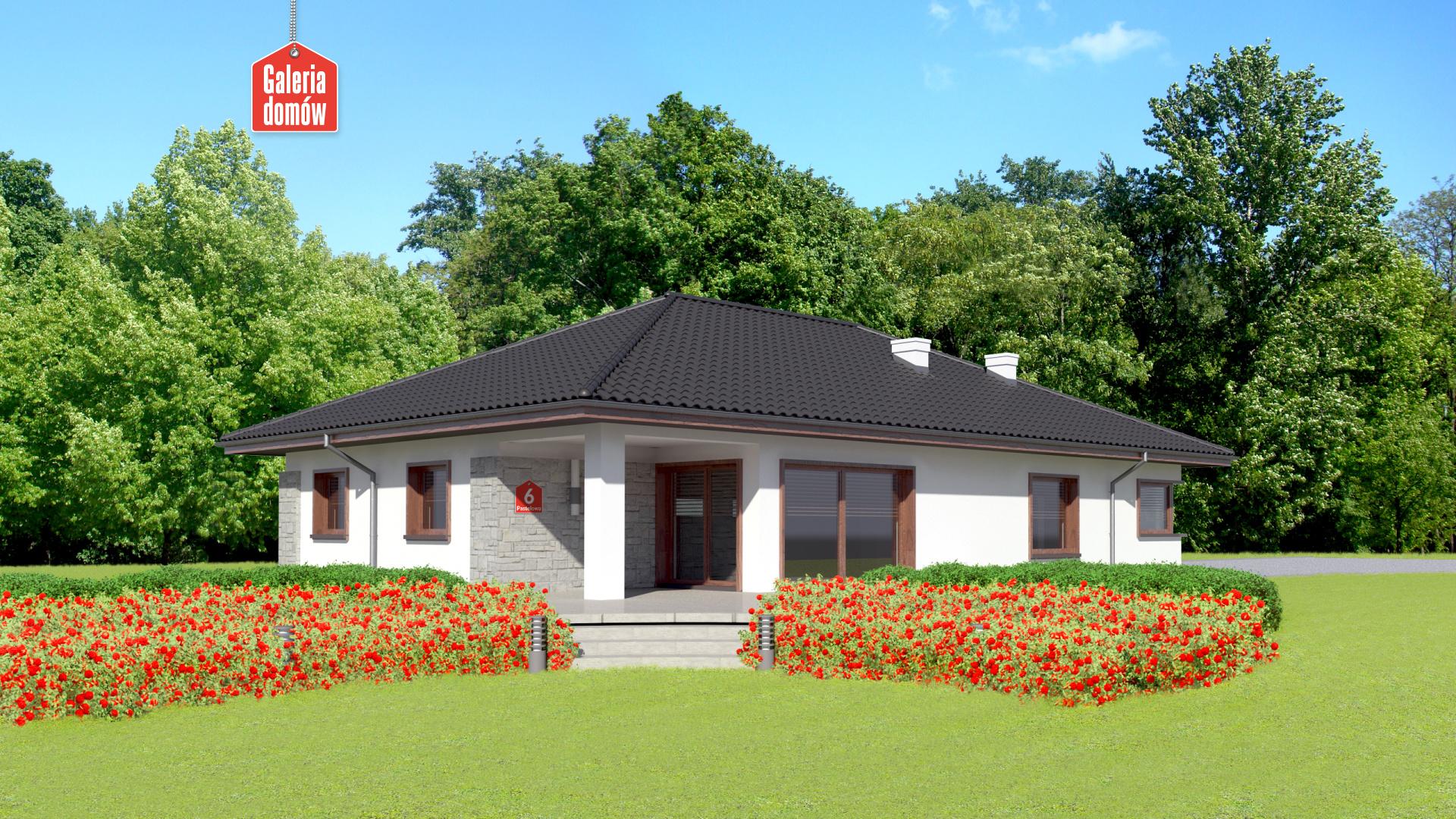Dom przy Pastelowej 6 - widok od ogrodu