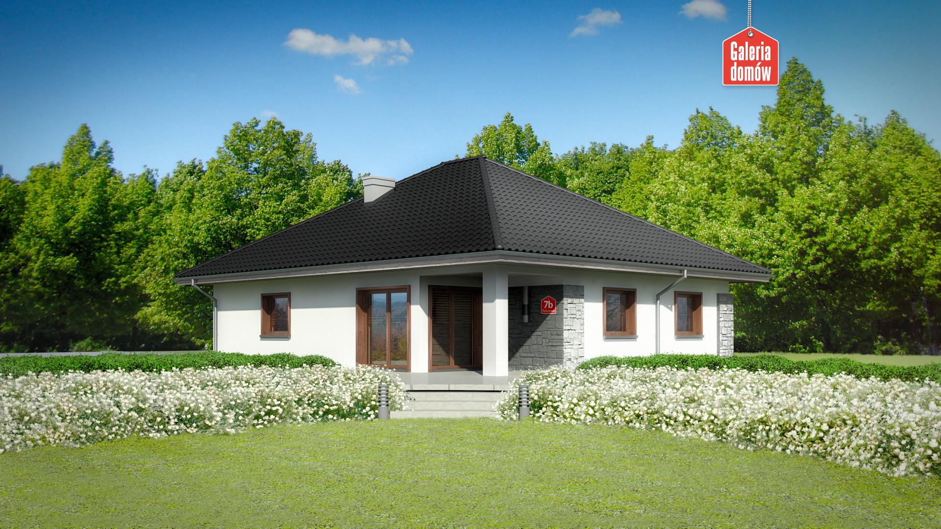 Dom przy Pastelowej 7 bis - widok od ogrodu