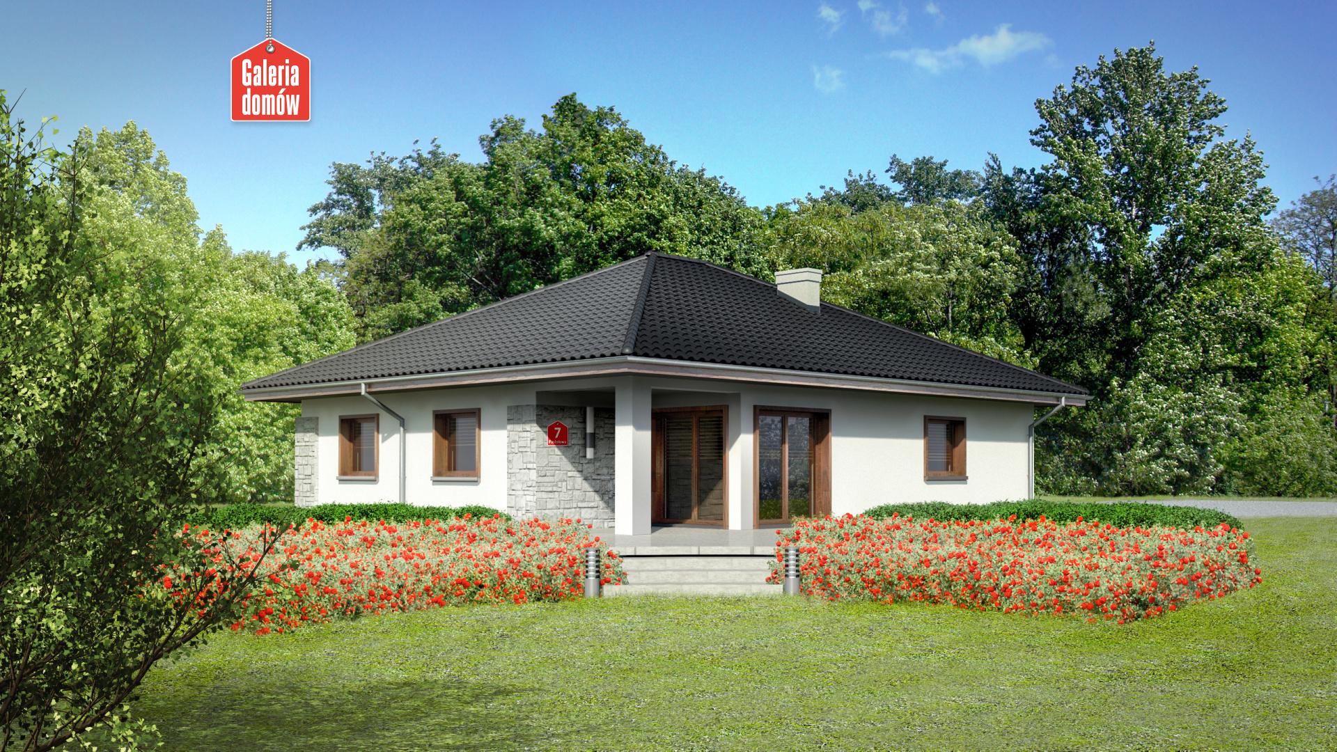 Dom przy Pastelowej 7 - widok od ogrodu