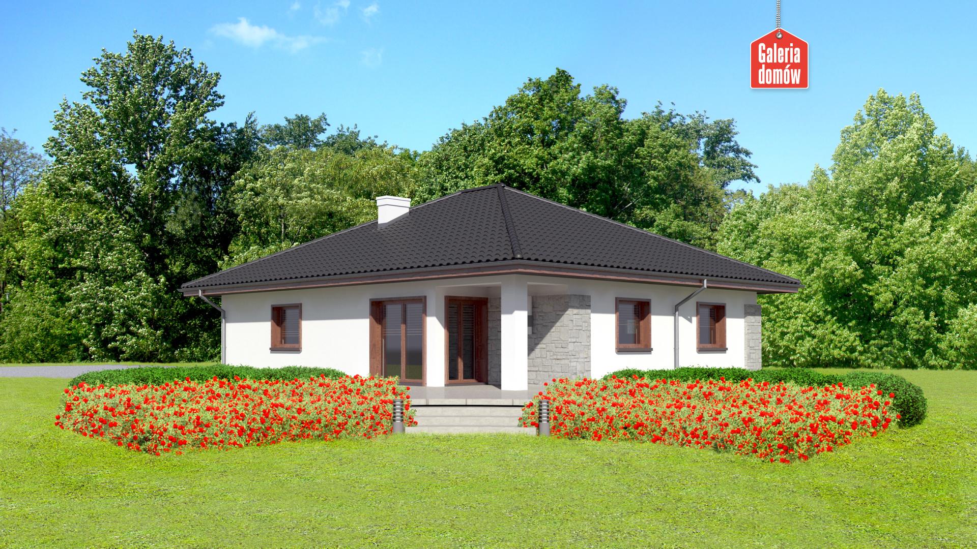 Dom przy Pastelowej 8 - widok od ogrodu
