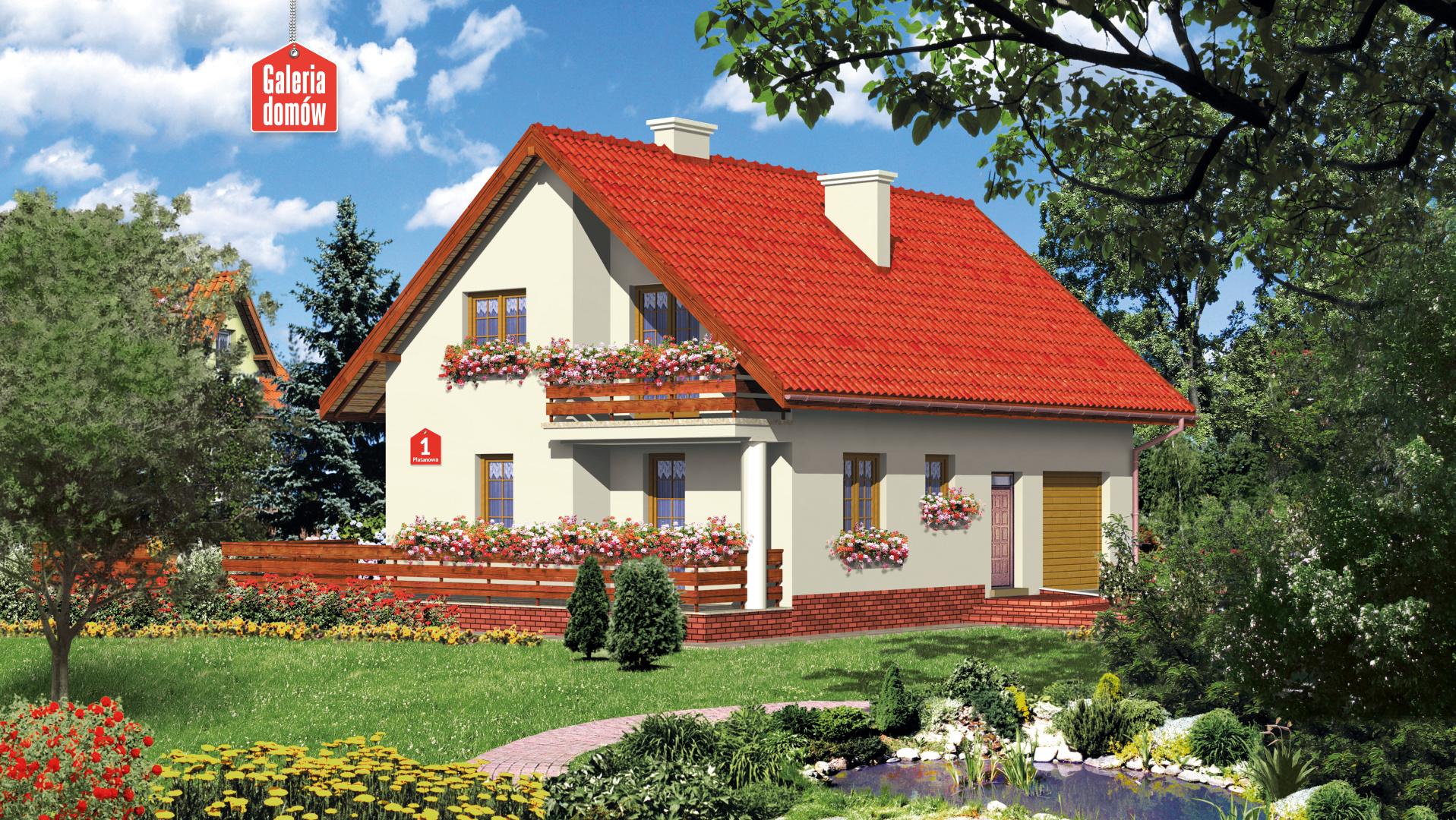 Dom przy Platanowej - zdjęcie projektu i wizualizacja