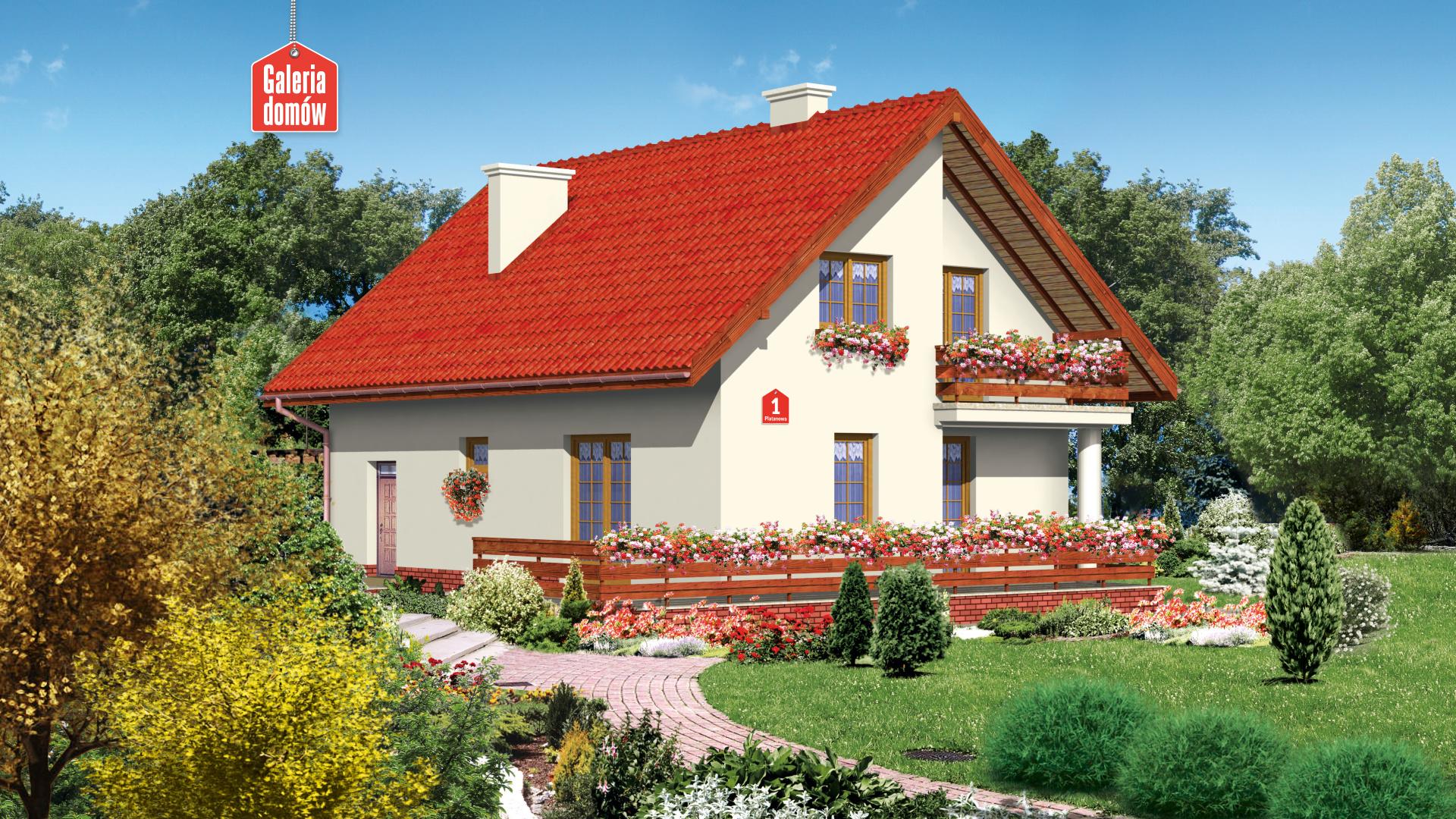 Dom przy Platanowej - widok od ogrodu
