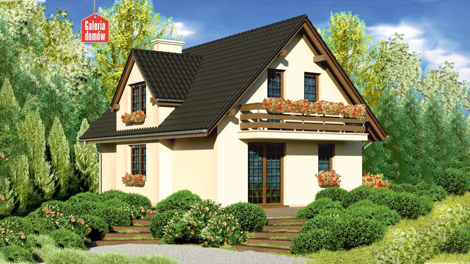 Dom przy Polnej - widok od ogrodu