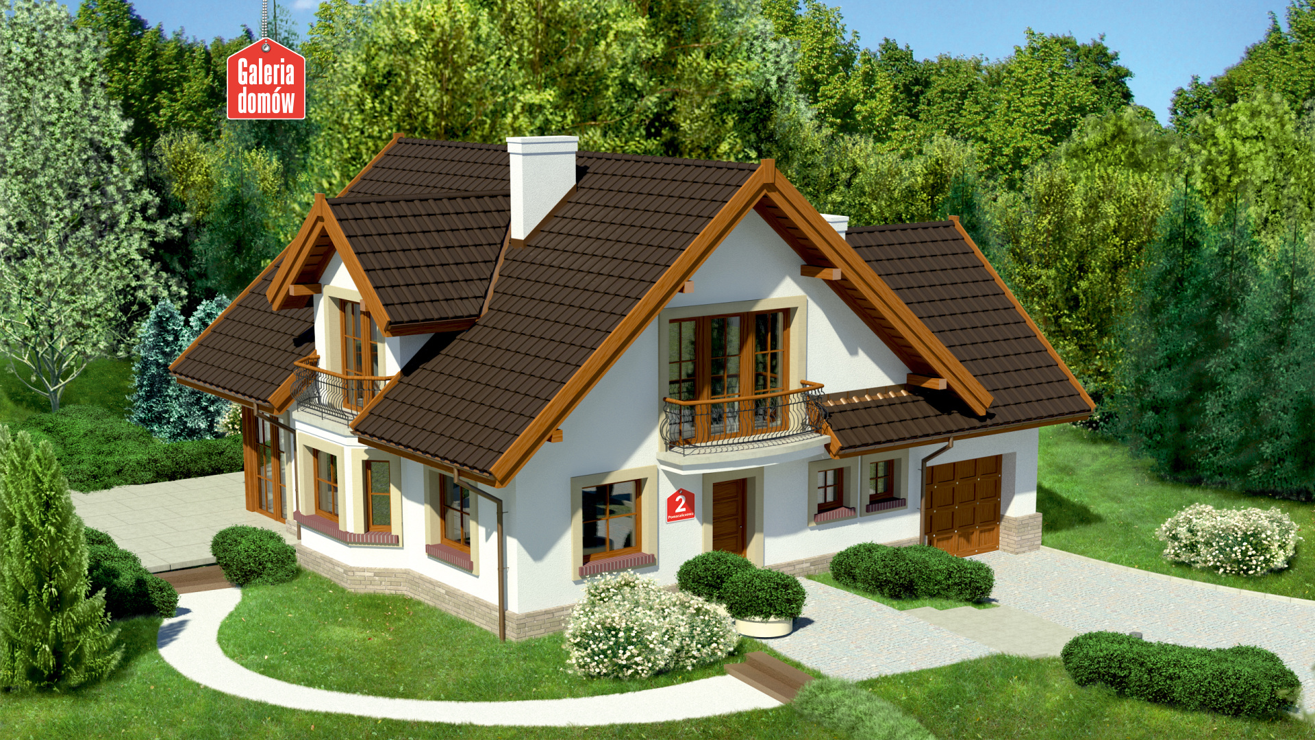 Dom przy Pomarańczowej 2 - zdjęcie projektu i wizualizacja
