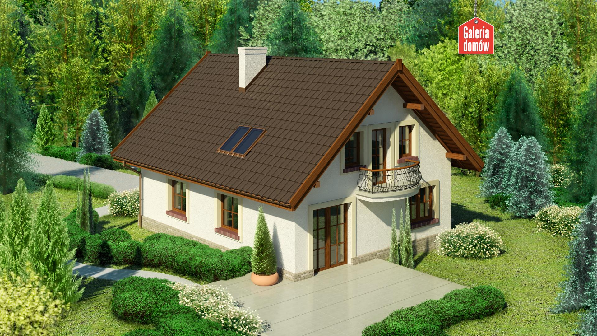 Dom przy Pomarańczowej 3 - widok od ogrodu
