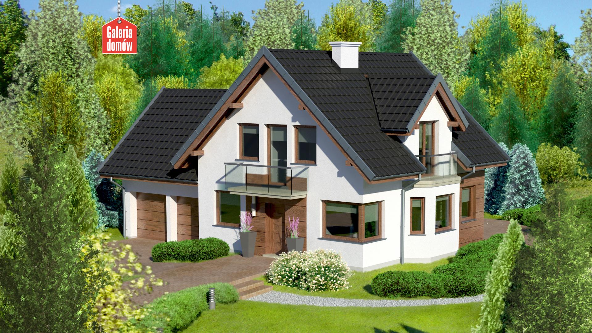 Zdjęcie projektu i wizualizacja: projekt domu Dom przy Przyjaznej 10