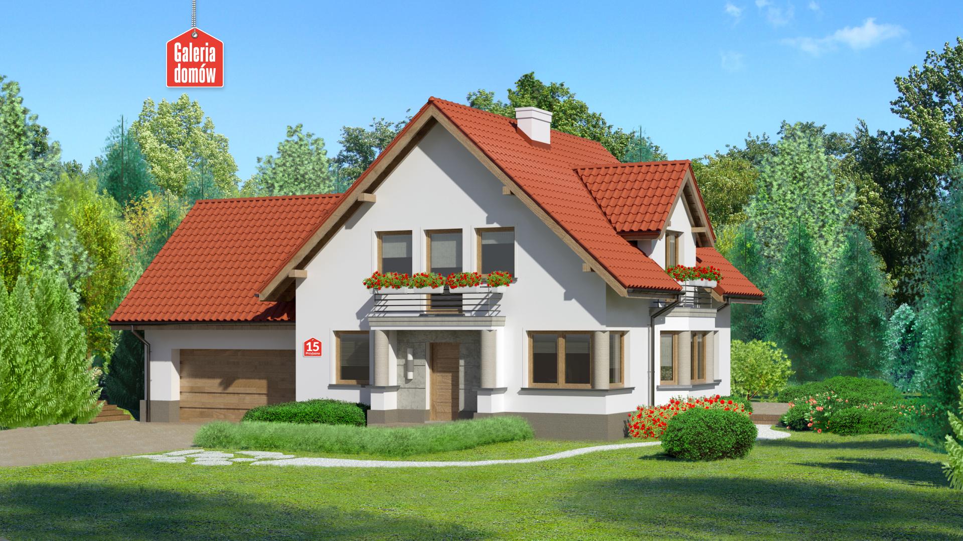 Zdjęcie projektu i wizualizacja: projekt domu Dom przy Przyjaznej 15