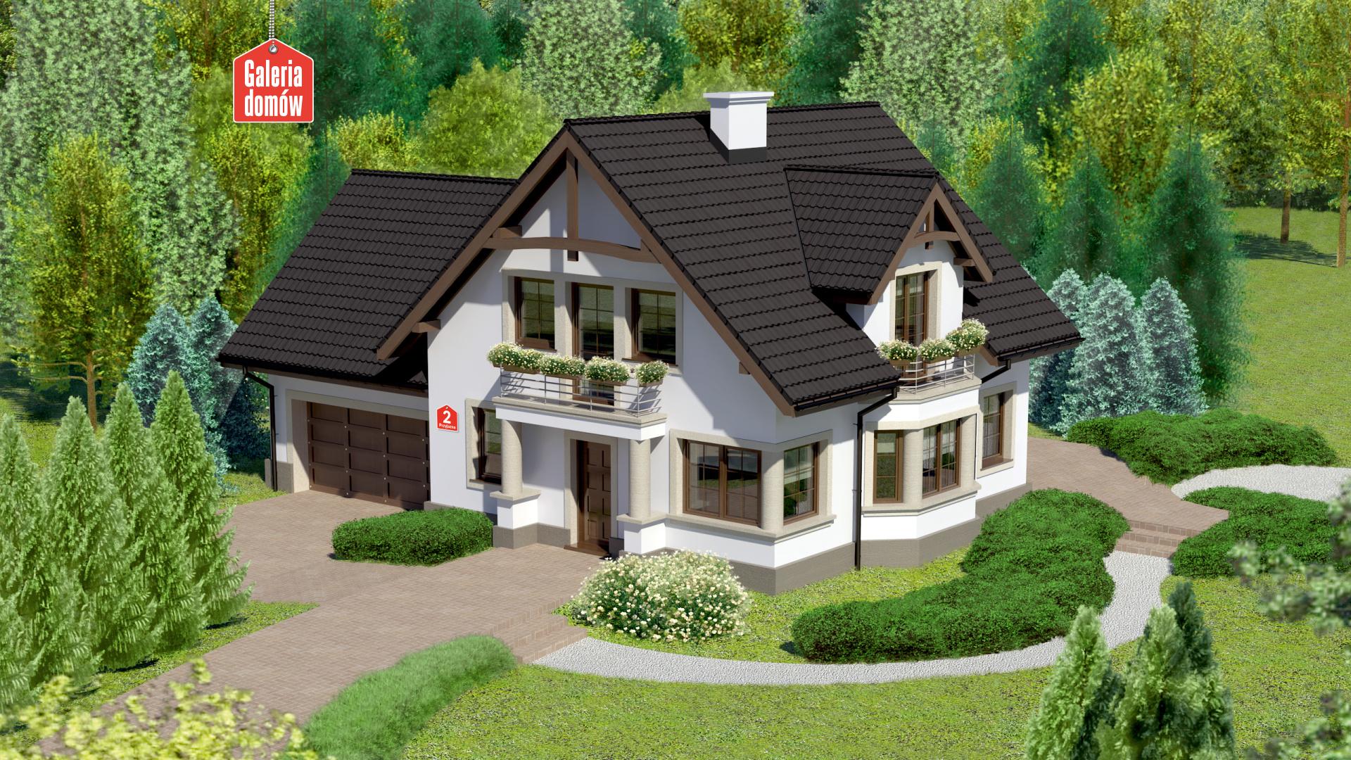 Dom przy Przyjaznej 2 - zdjęcie projektu i wizualizacja