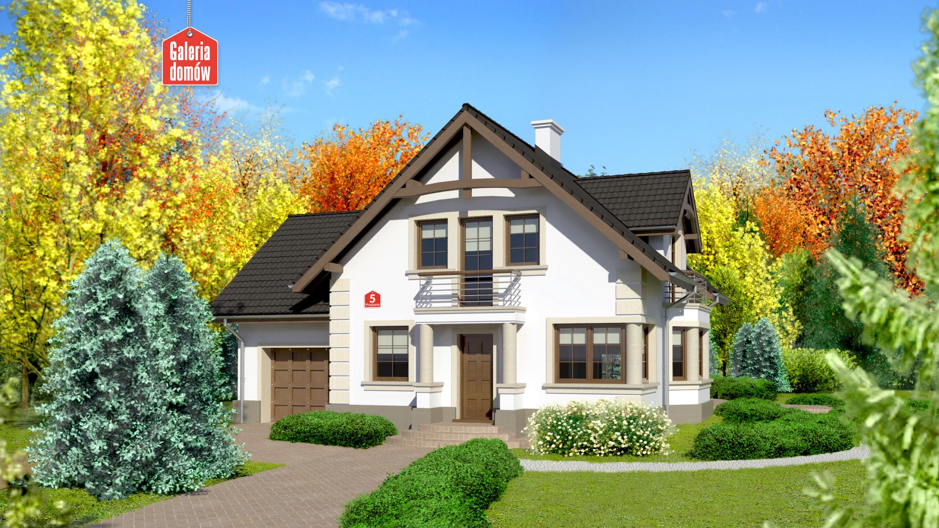 Dom przy Przyjaznej 5 - zdjęcie projektu i wizualizacja