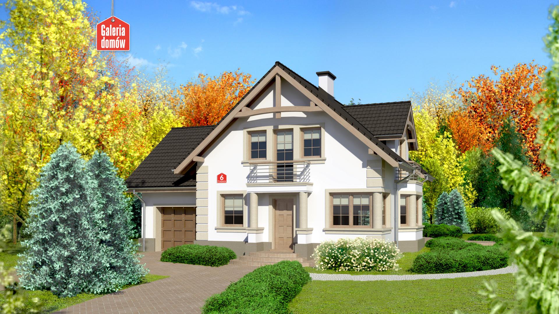 Dom przy Przyjaznej 6 - zdjęcie projektu i wizualizacja