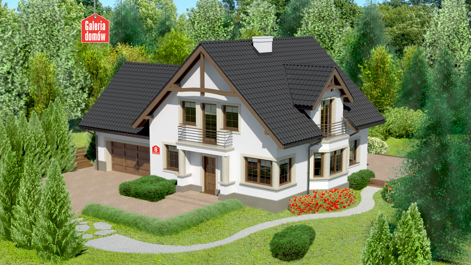 Dom przy Przyjaznej 8 - zdjęcie projektu i wizualizacja