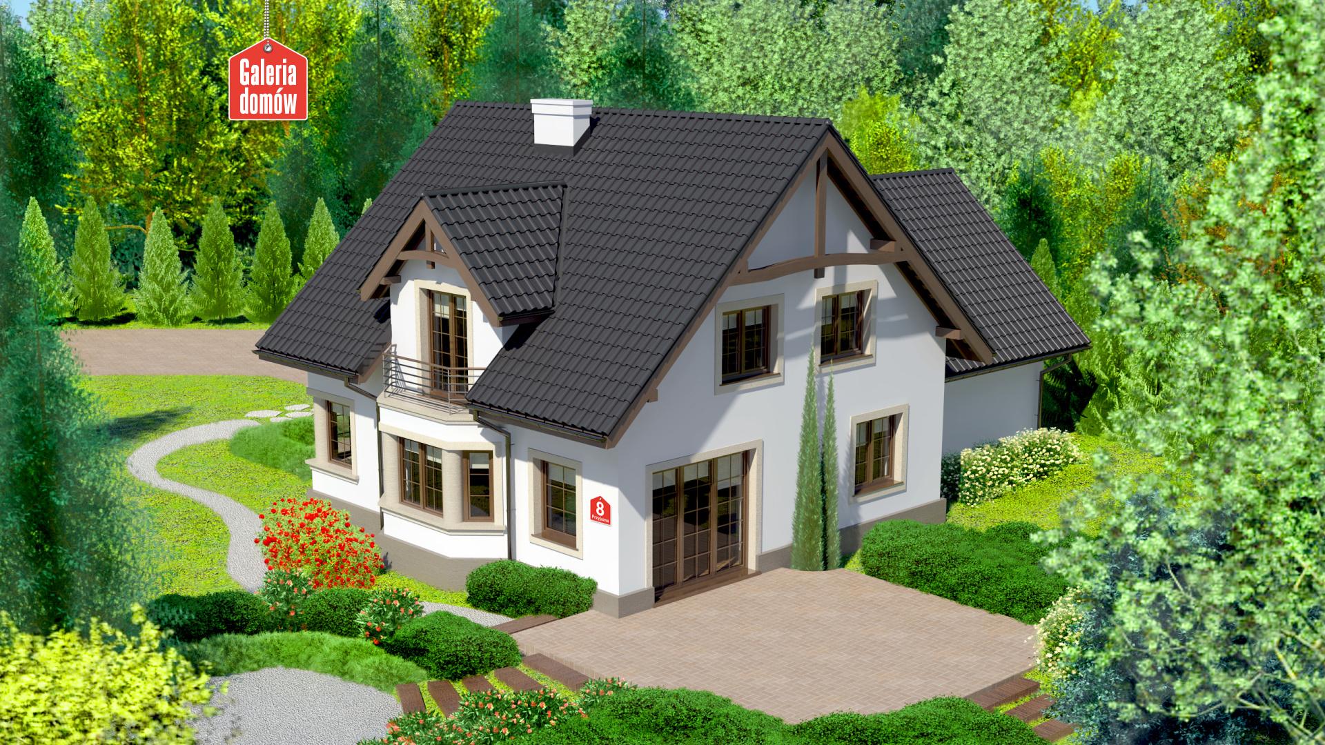 Dom przy Przyjaznej 8 - widok od ogrodu