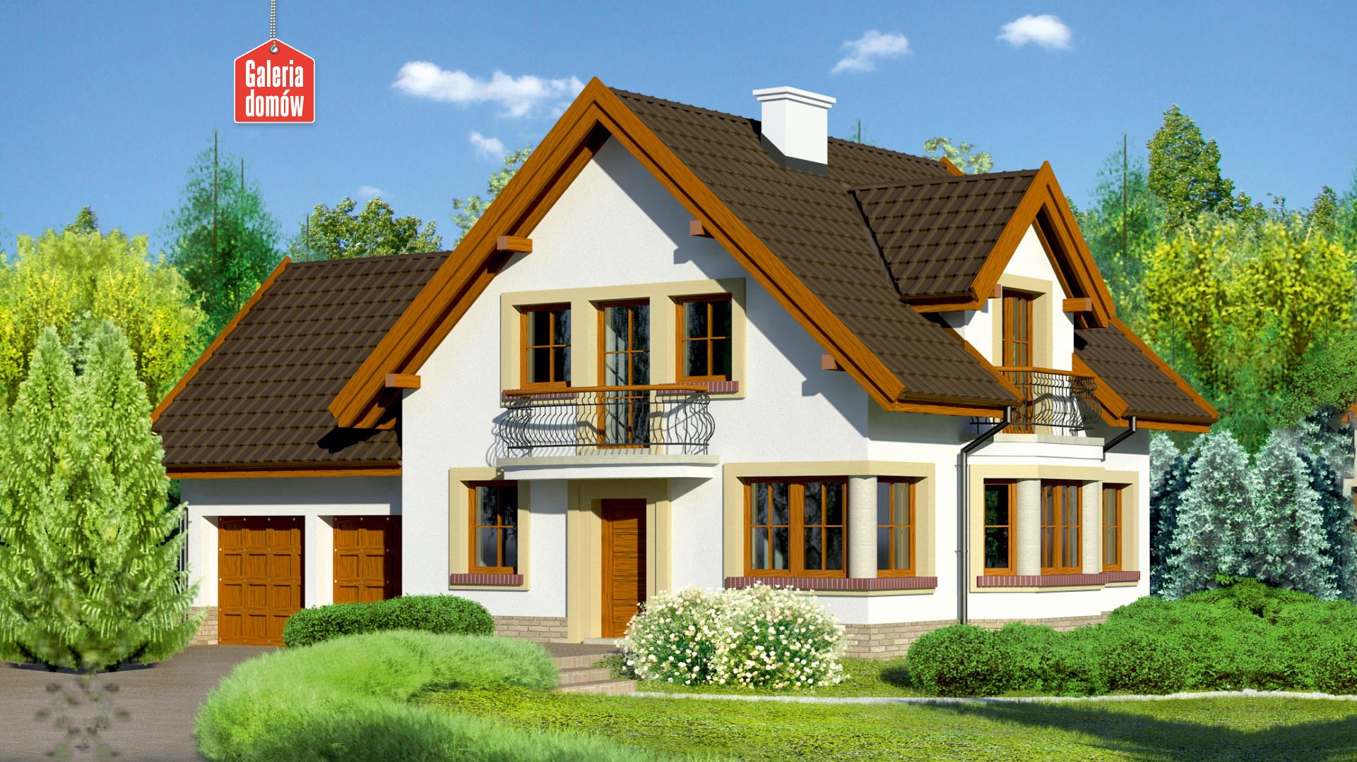 Zdjęcie projektu i wizualizacja: projekt domu Dom przy Przyjaznej 9